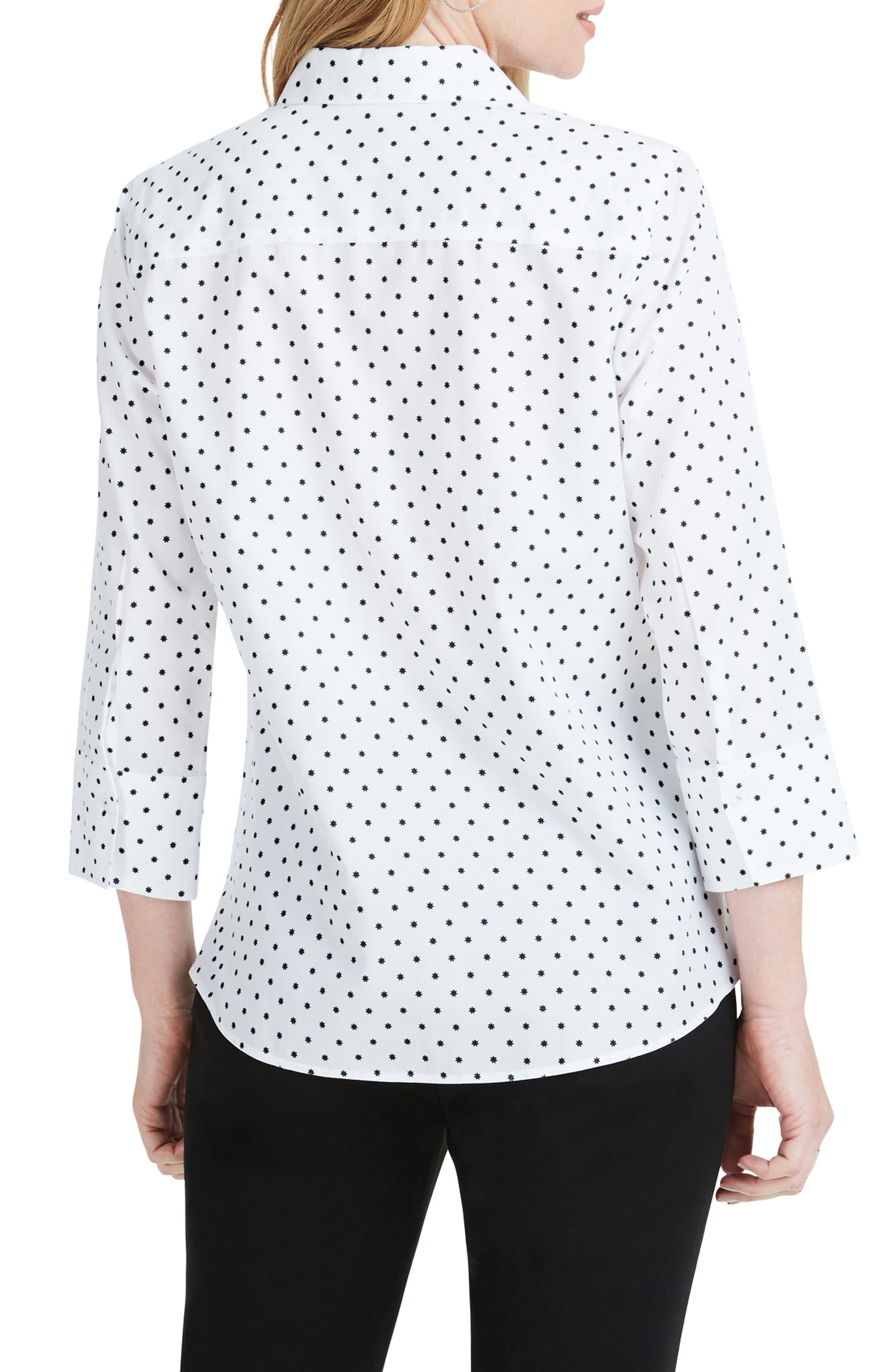 Mary Star Dot Shirt,                             Alternate thumbnail 2, color,                             BLACK