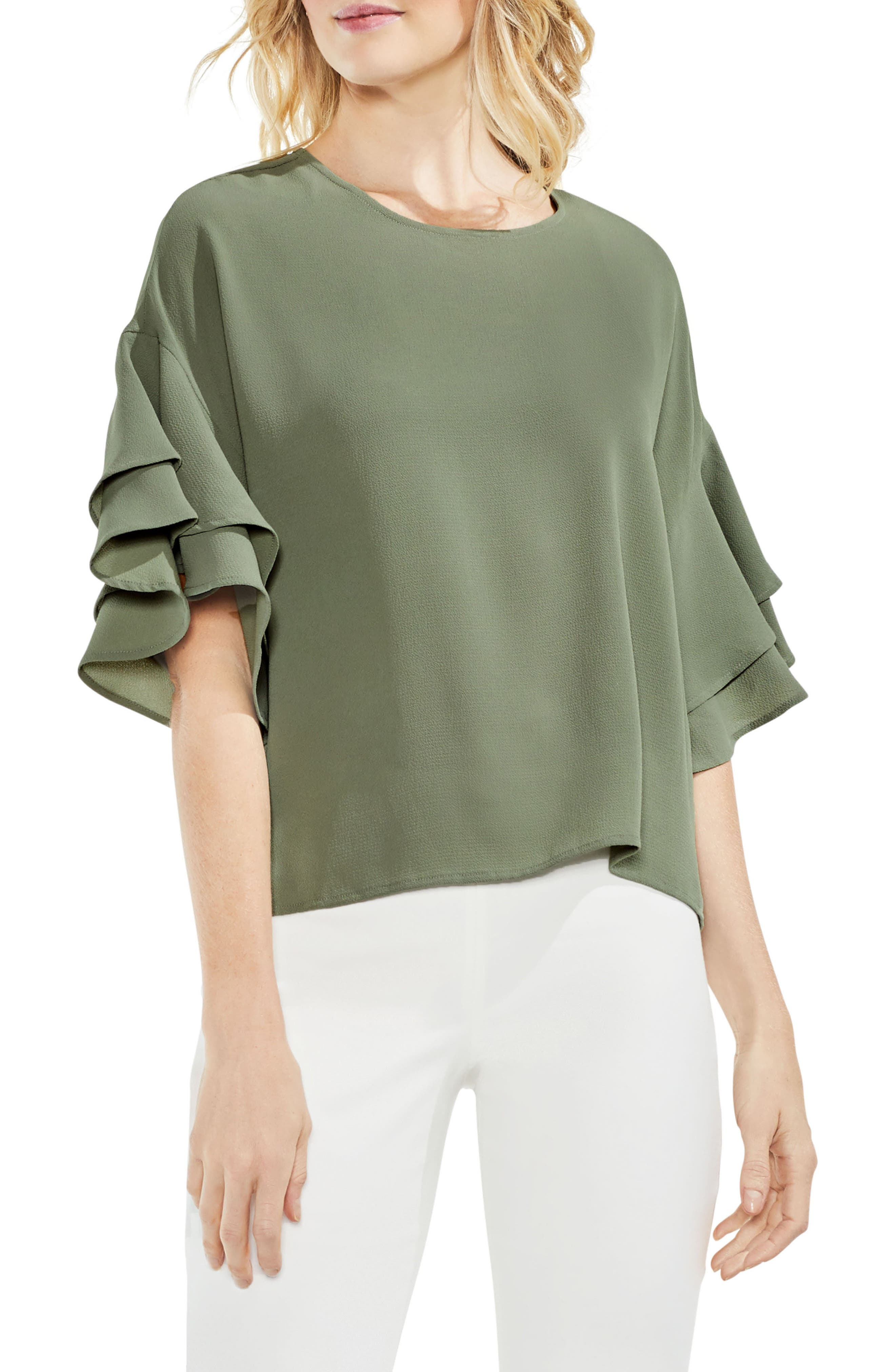 Drop Shoulder Ruffle Sleeve Blouse,                         Main,                         color, 335