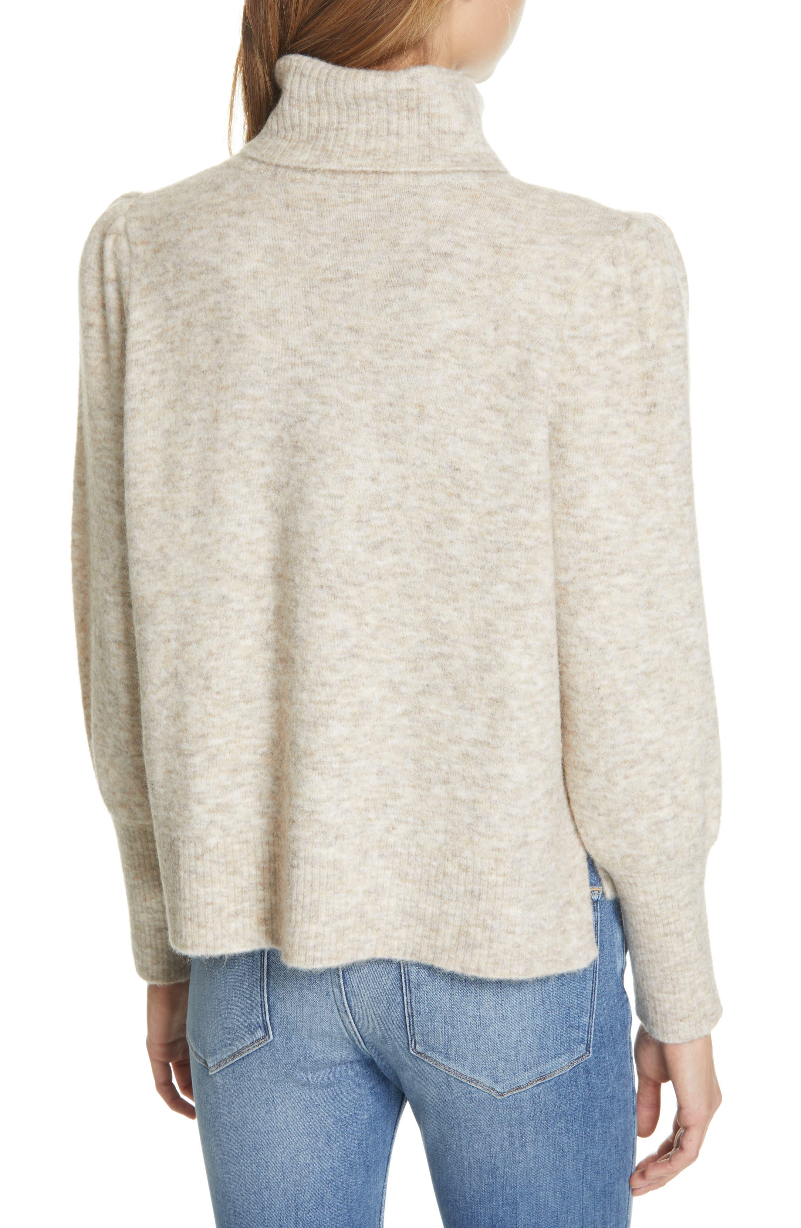 Swingy Turtleneck Sweater,                             Alternate thumbnail 2, color,                             OATMEAL