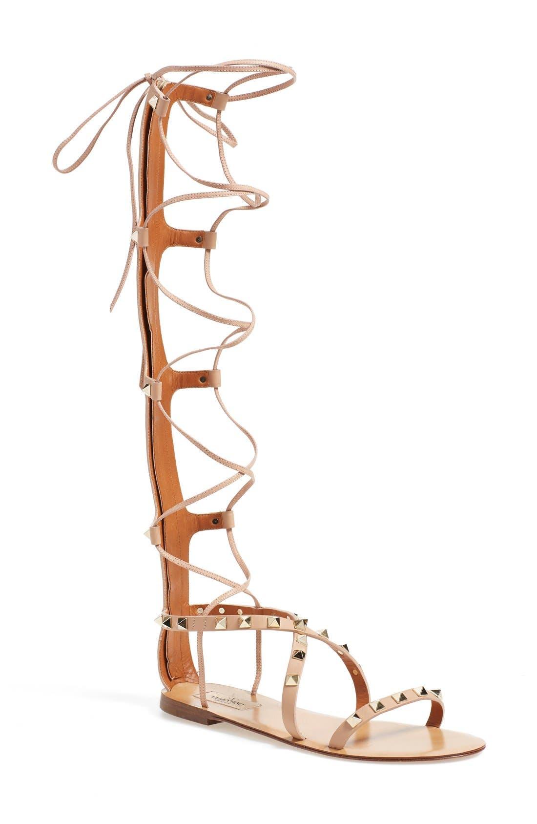 'Rockstud' Tall Gladiator Sandal, Main, color, 251