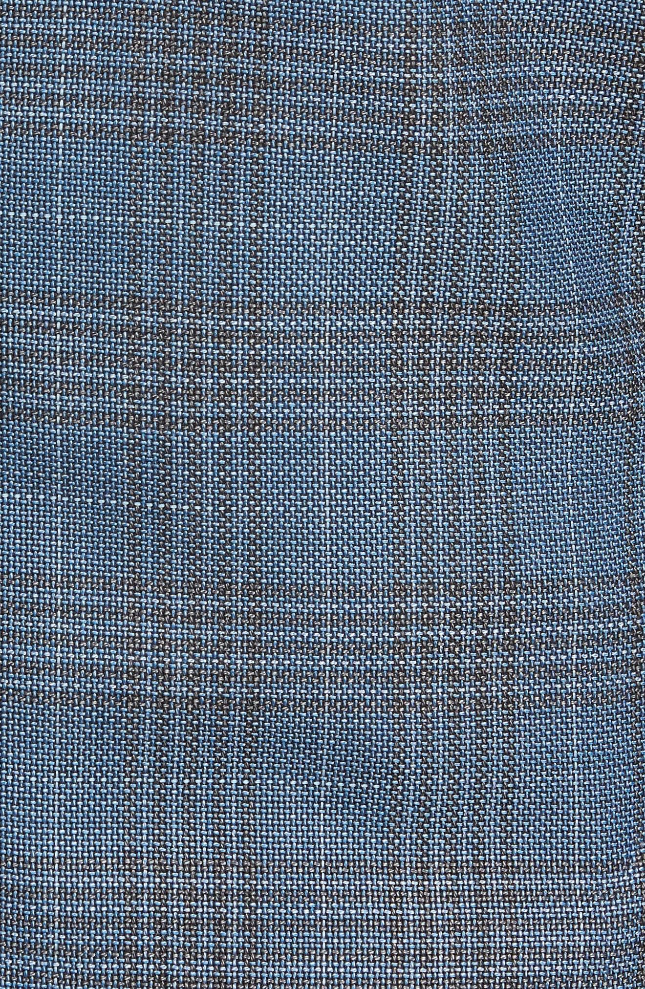 Janson Classic Fit Plaid Wool Sport Coat,                             Alternate thumbnail 6, color,                             473