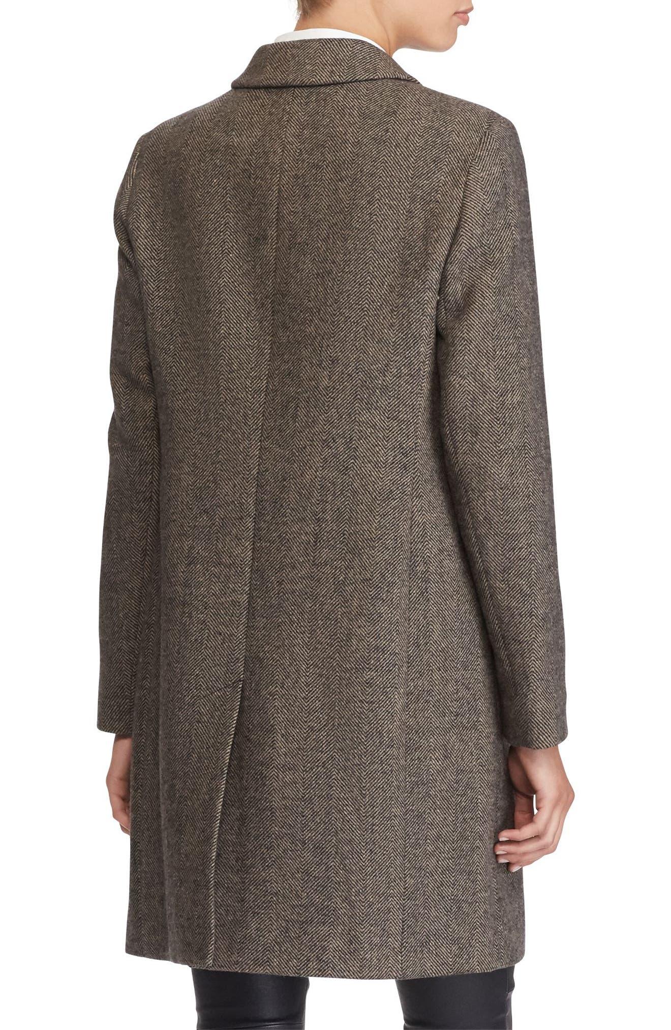 Wool Blend Reefer Coat,                             Alternate thumbnail 22, color,
