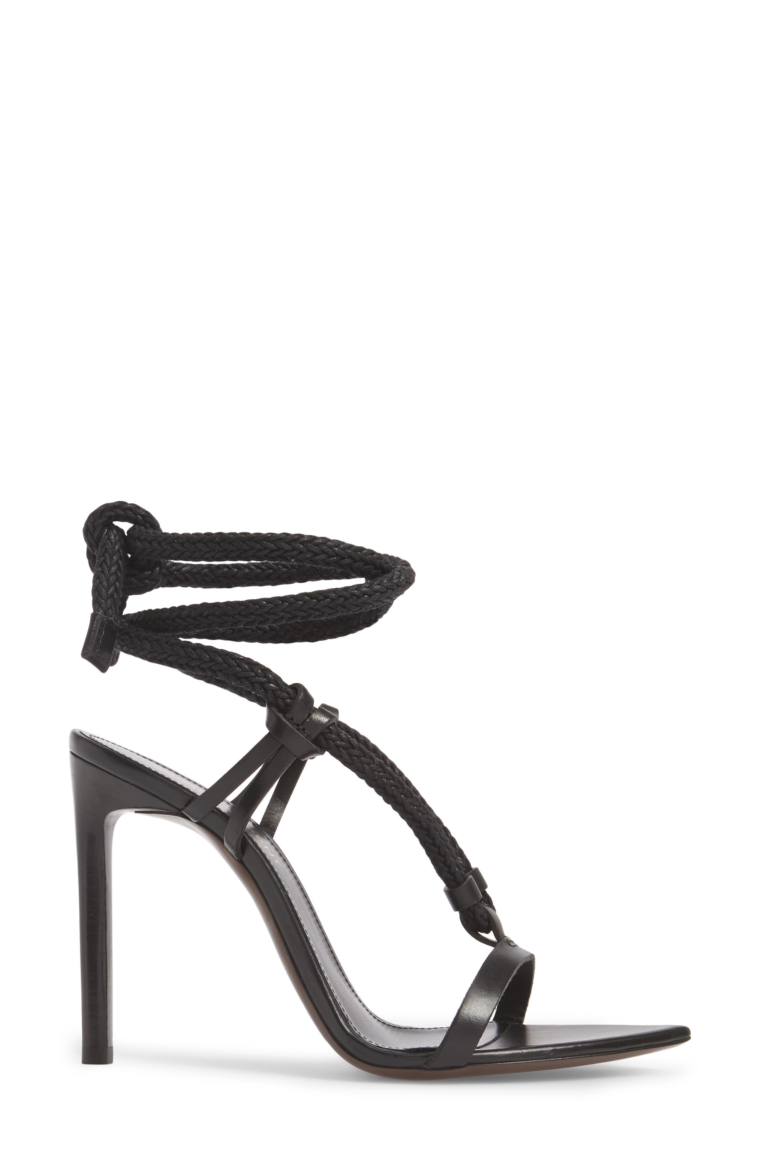 Majorelle Ankle Tie Sandal,                             Alternate thumbnail 3, color,                             001