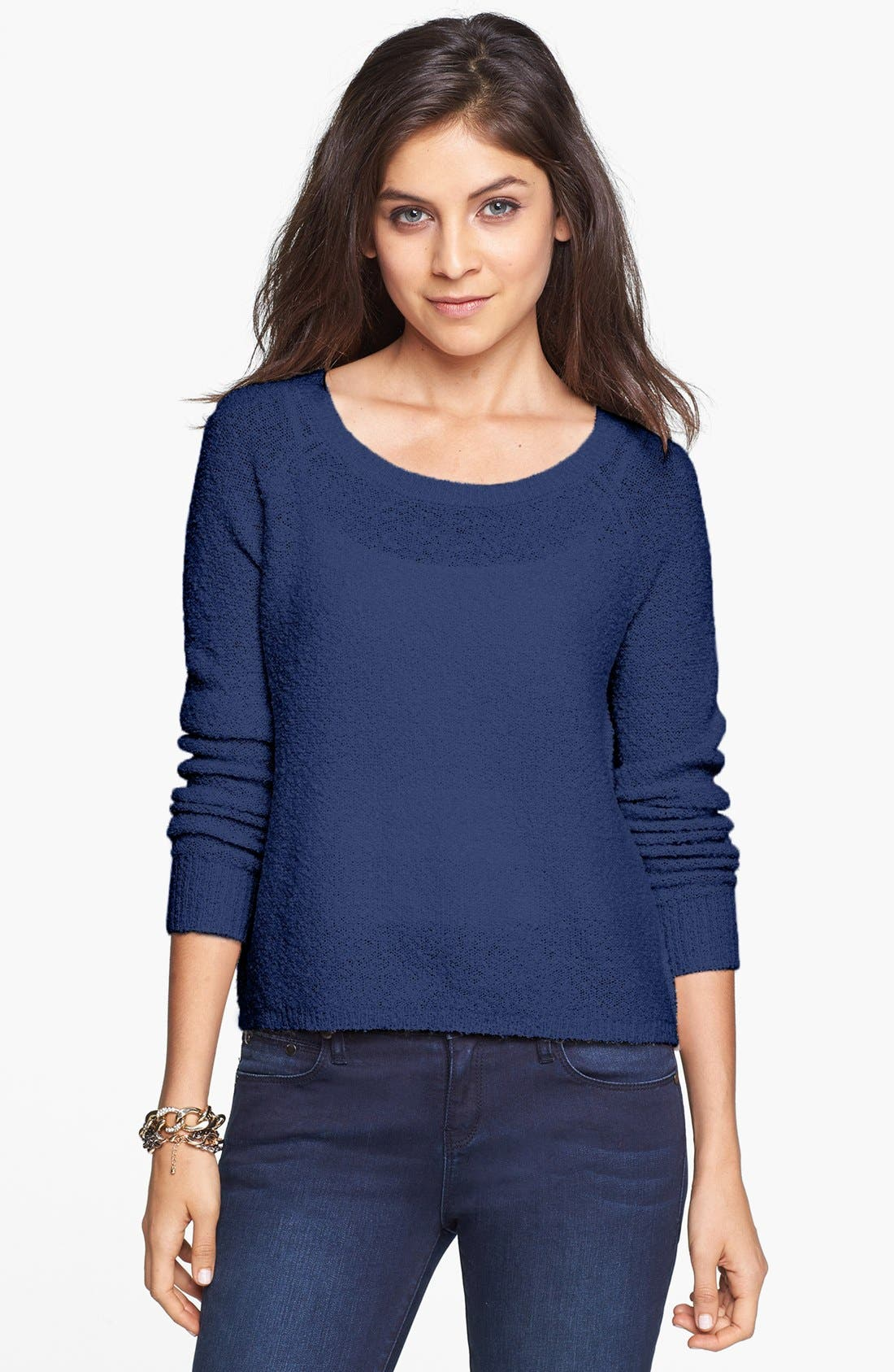 'Grunge' Textured Sweater,                             Main thumbnail 6, color,