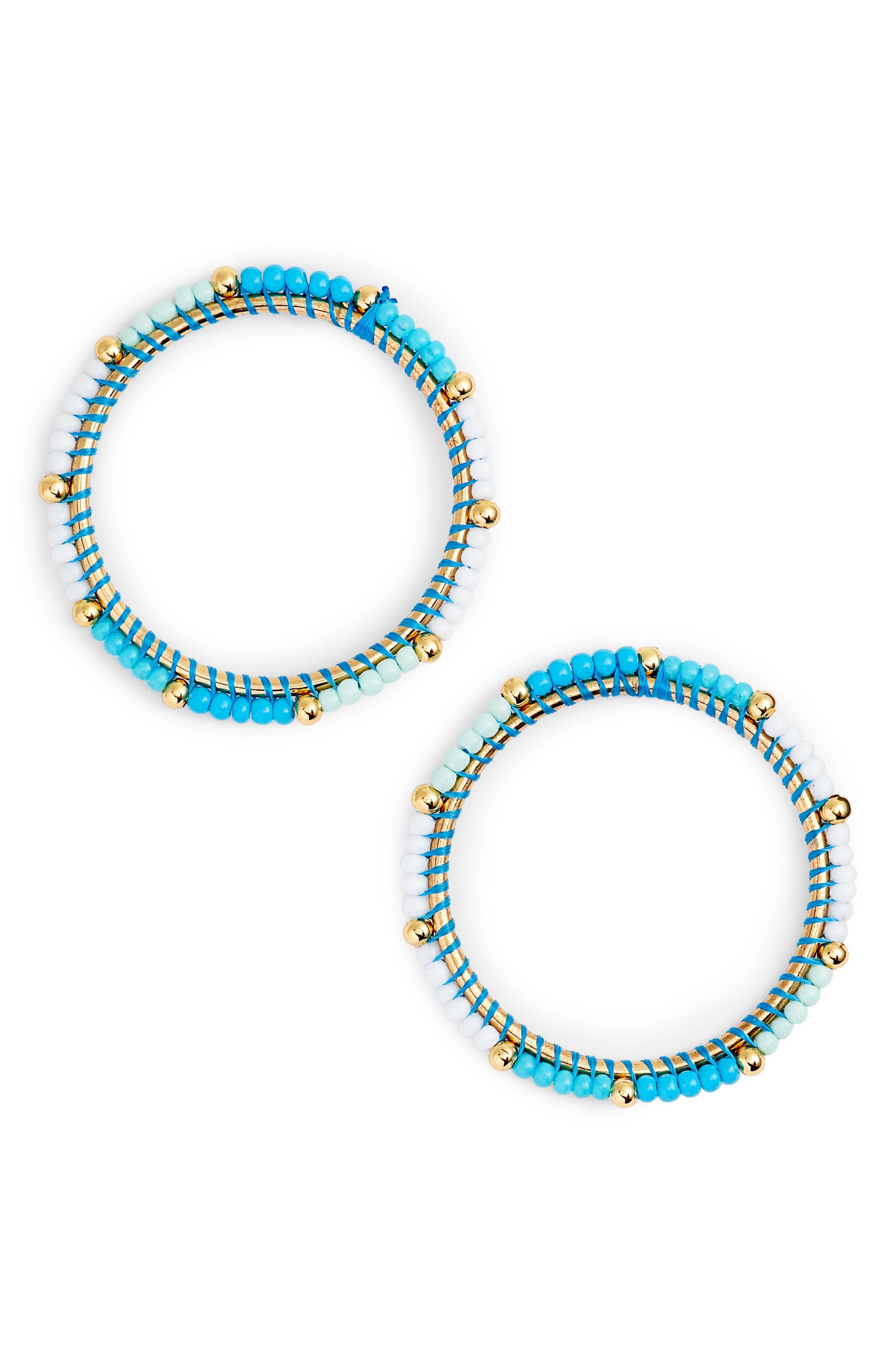 Beaded Hoop Earrings,                         Main,                         color, 439