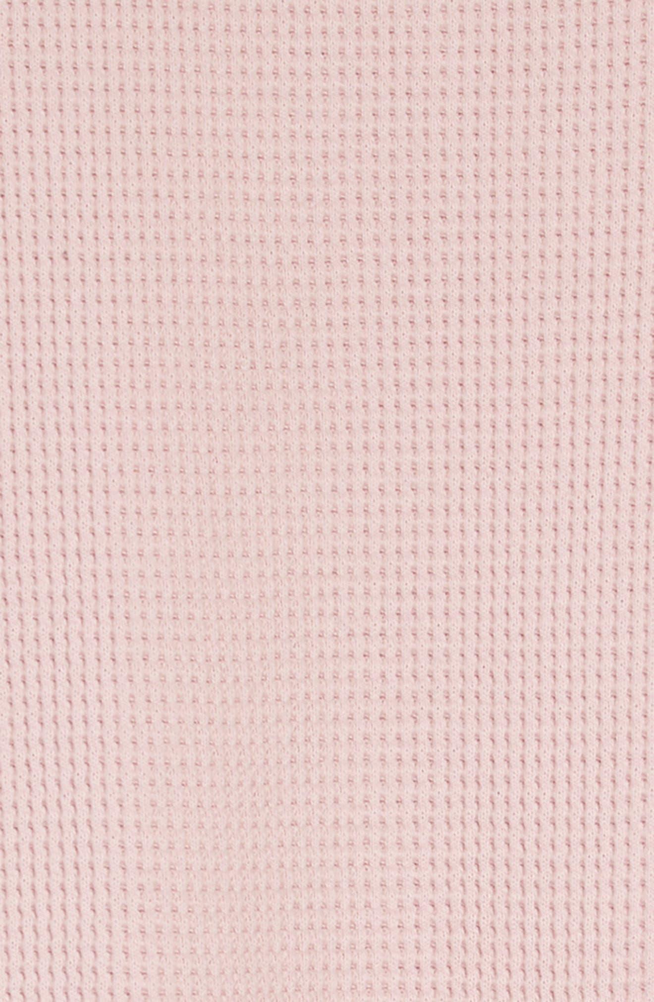 Waffle Knit T-Shirt Dress,                             Alternate thumbnail 3, color,                             680