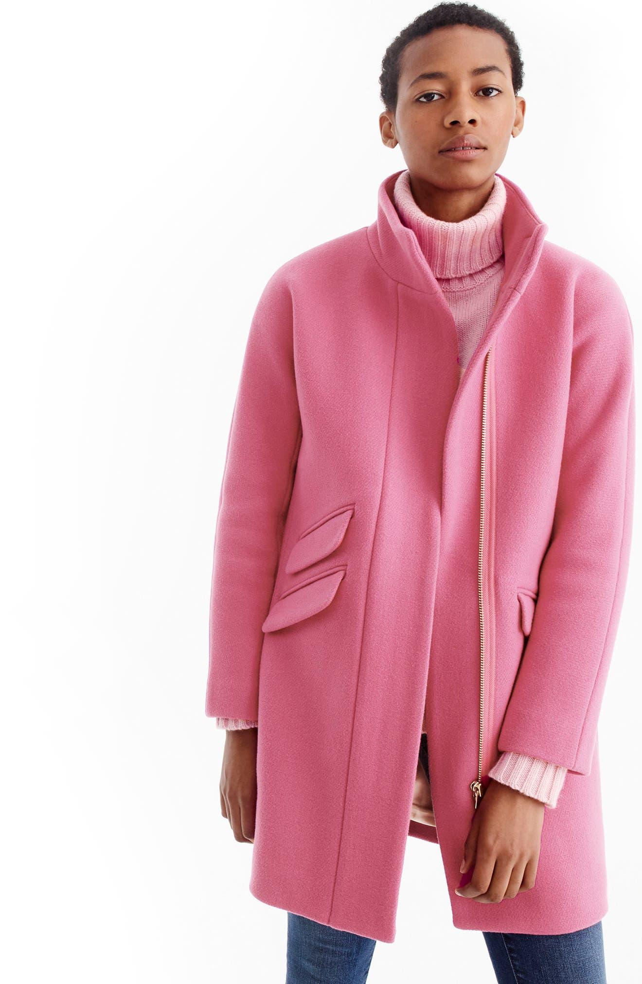Stadium Cloth Cocoon Coat,                             Alternate thumbnail 43, color,