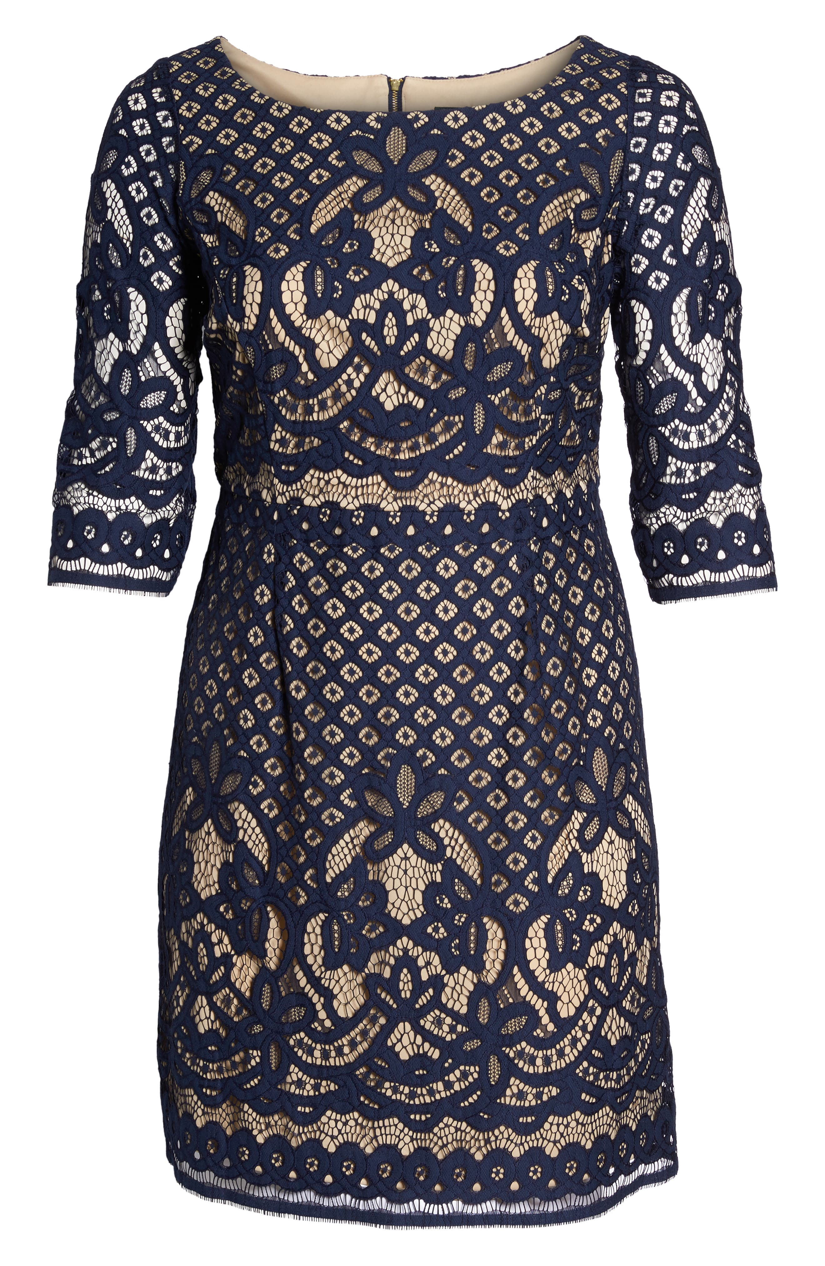 Lace Sheath Dress,                             Alternate thumbnail 6, color,                             410