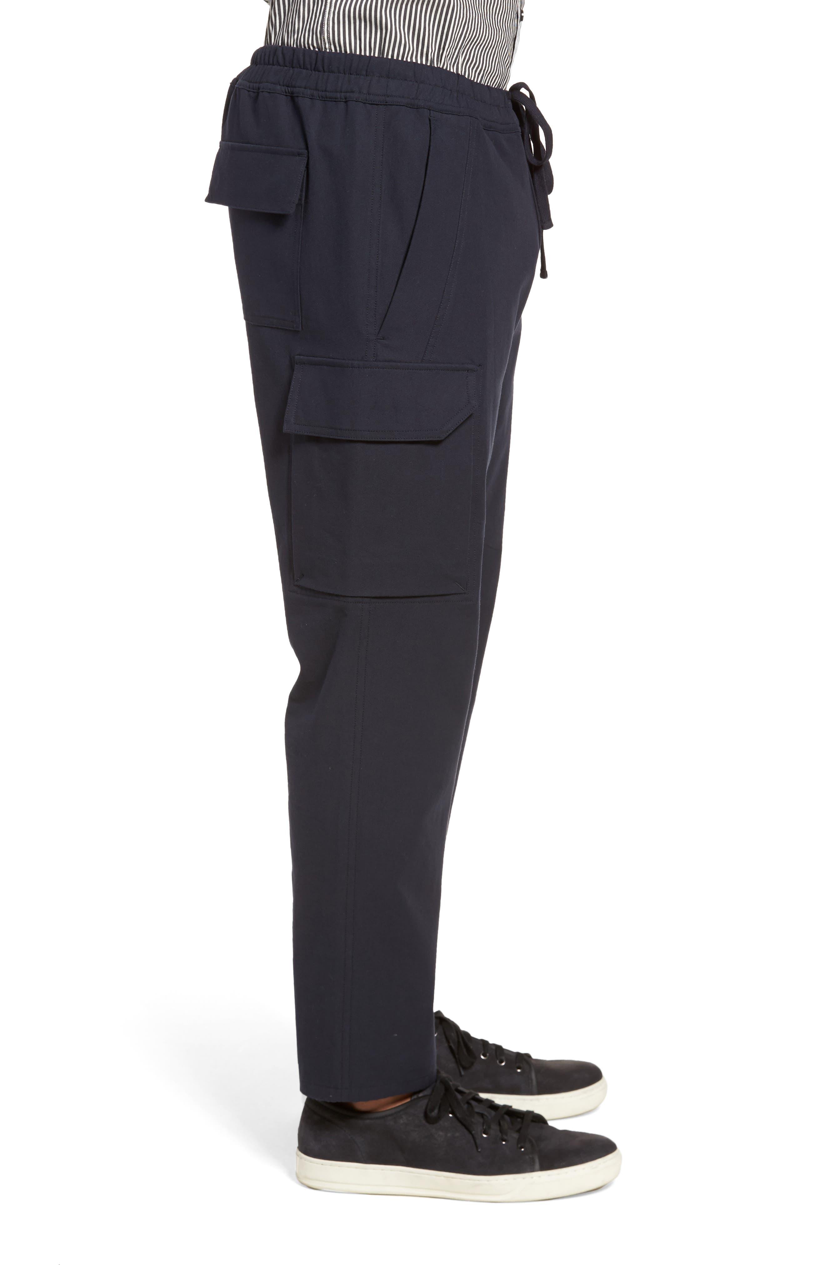 Regular Fit Drawstring Pants,                             Alternate thumbnail 3, color,