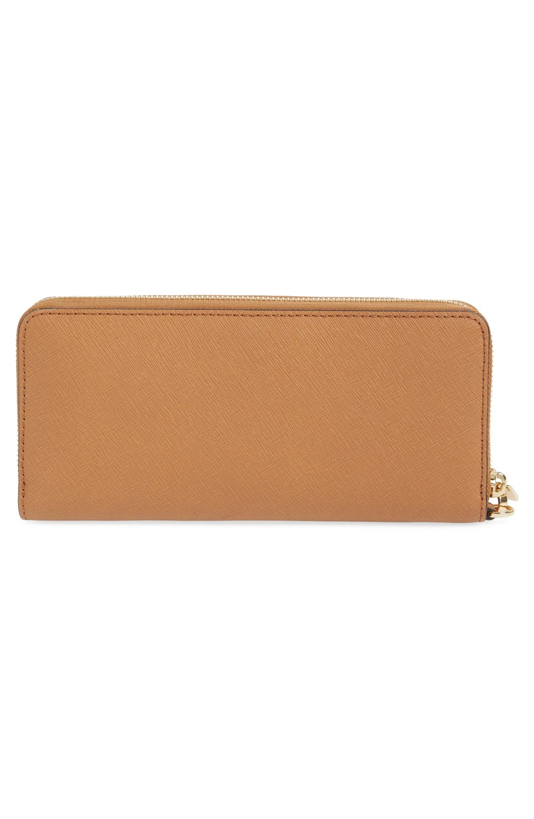 'Jet Set' Leather Travel Wallet,                             Alternate thumbnail 37, color,