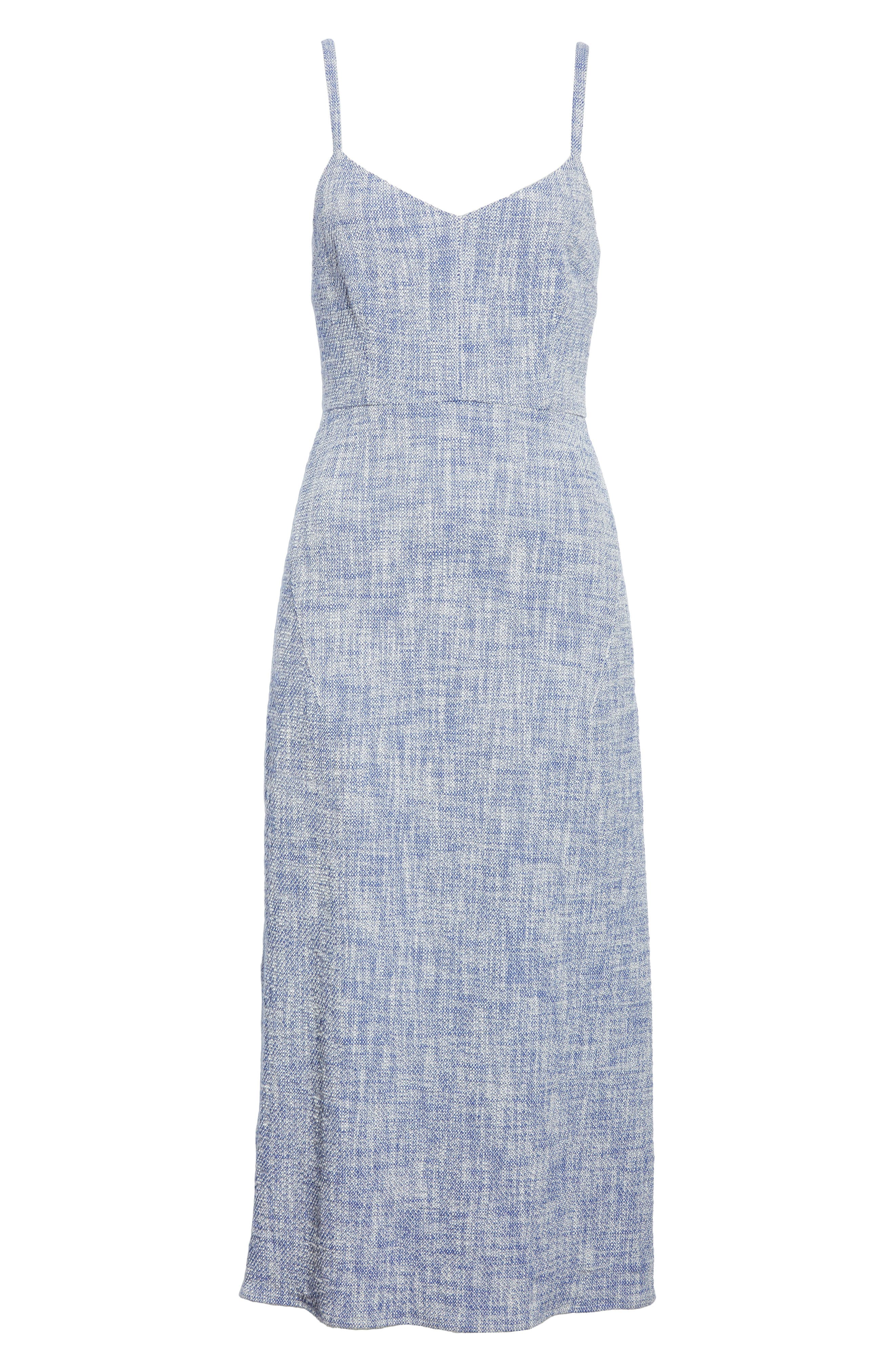Agitator Midi Dress,                             Alternate thumbnail 6, color,                             BLUE