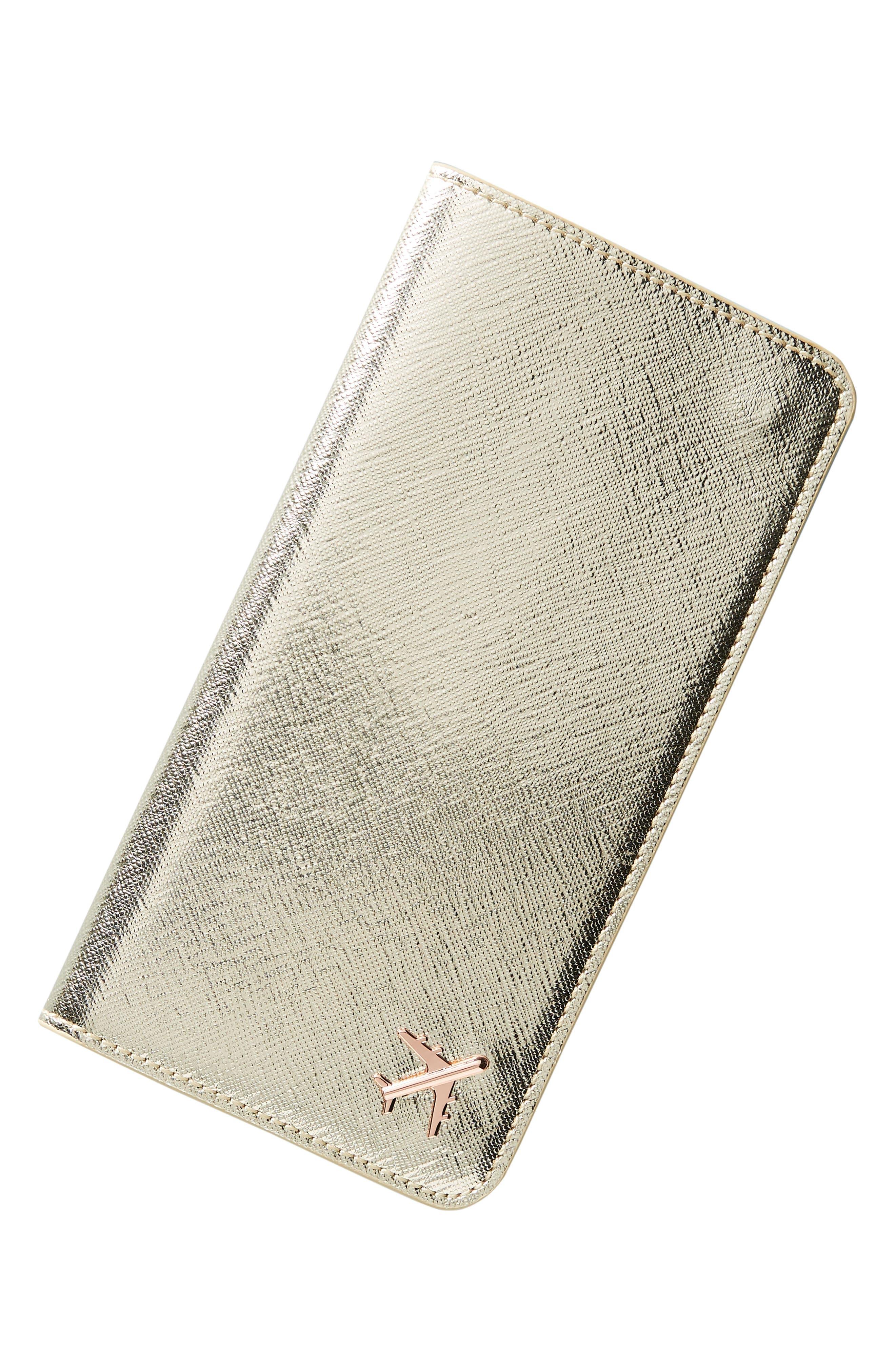 Celeste Travel Wallet,                             Alternate thumbnail 4, color,                             GOLD