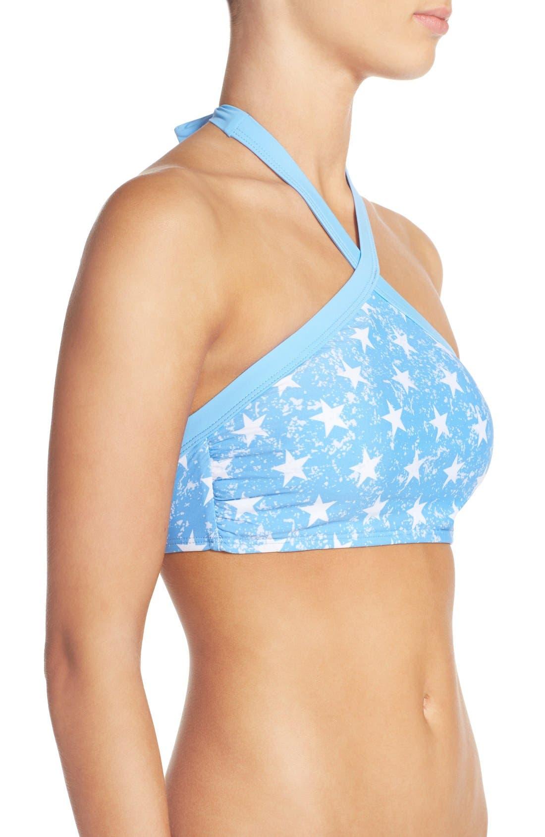 'American Flag - Red, White & You' High Neck Bikini Top,                             Alternate thumbnail 4, color,                             400