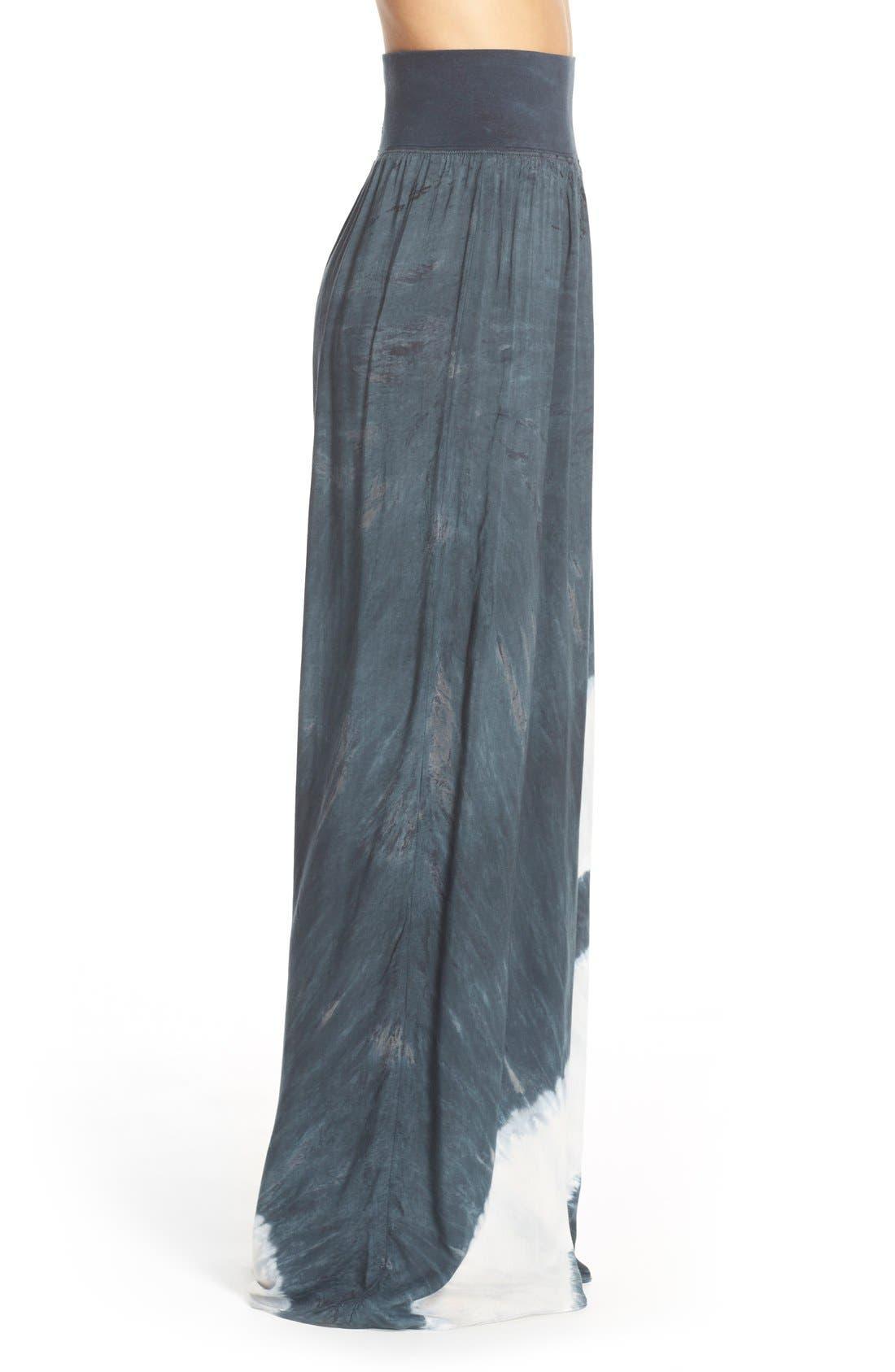 Tie Dye Wide Leg Pants,                             Alternate thumbnail 4, color,                             001