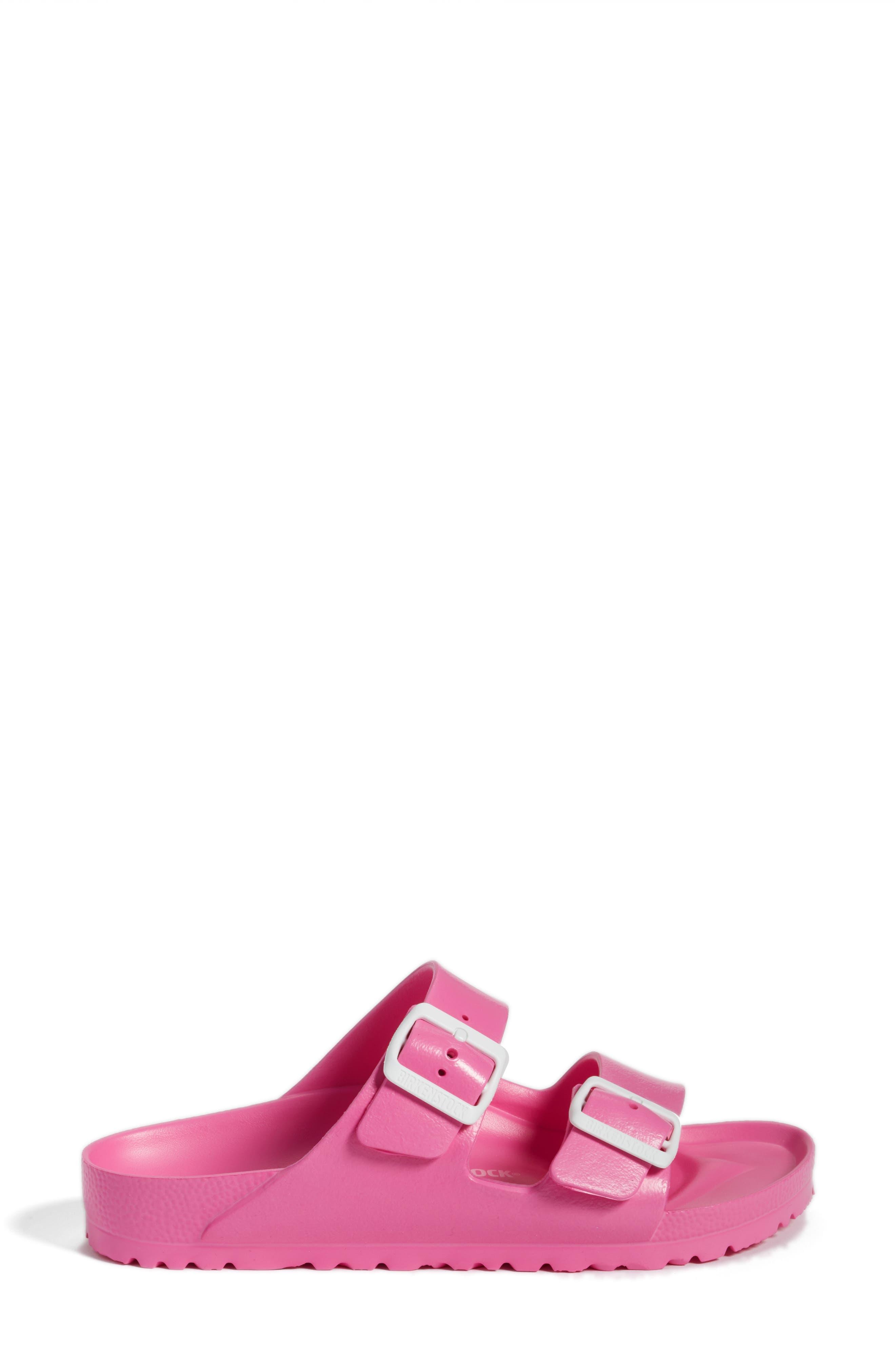 Essentials - Arizona Slide Sandal,                             Alternate thumbnail 3, color,                             PINK EVA