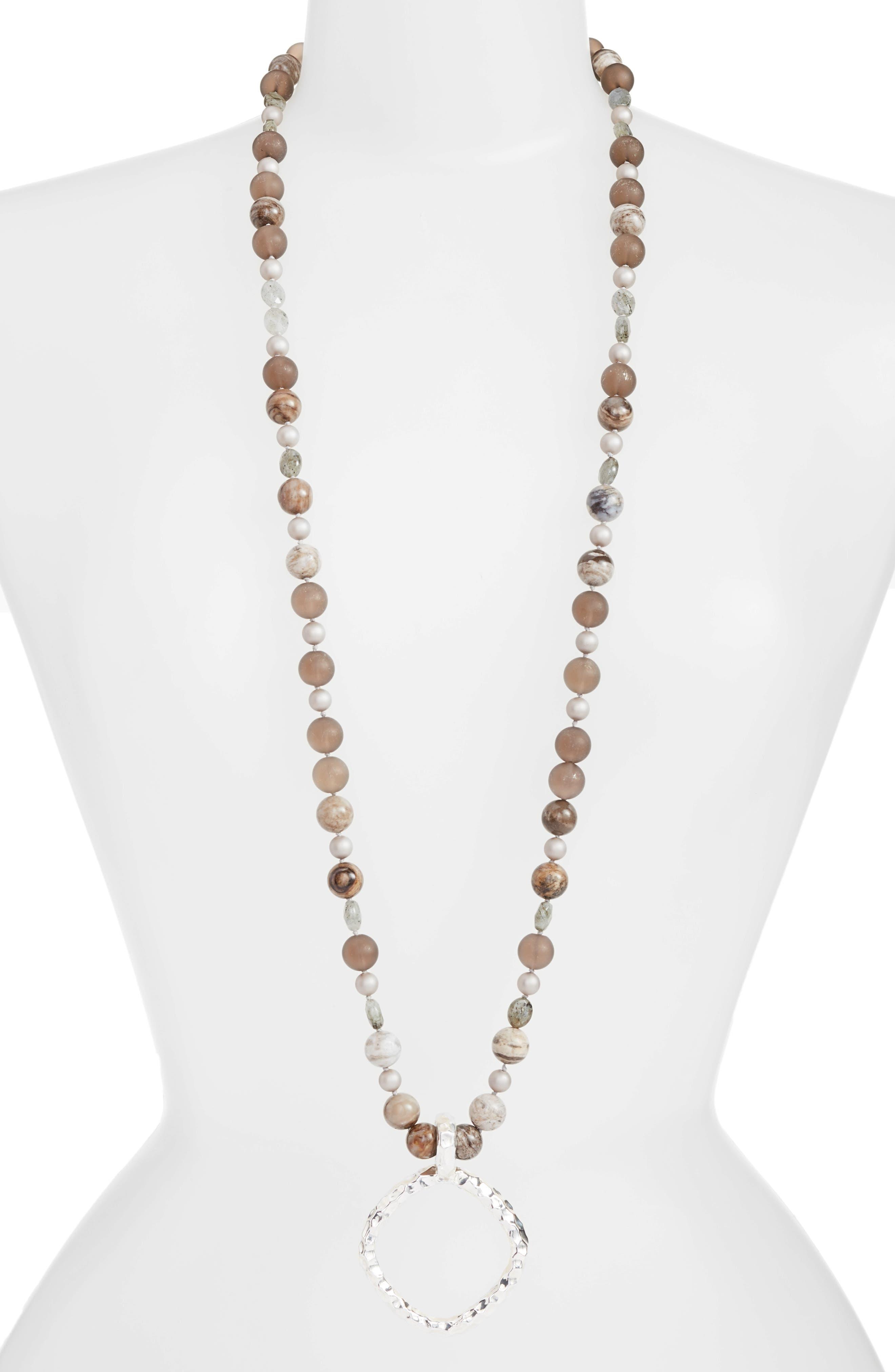 Long Beaded Necklace,                             Main thumbnail 1, color,                             710