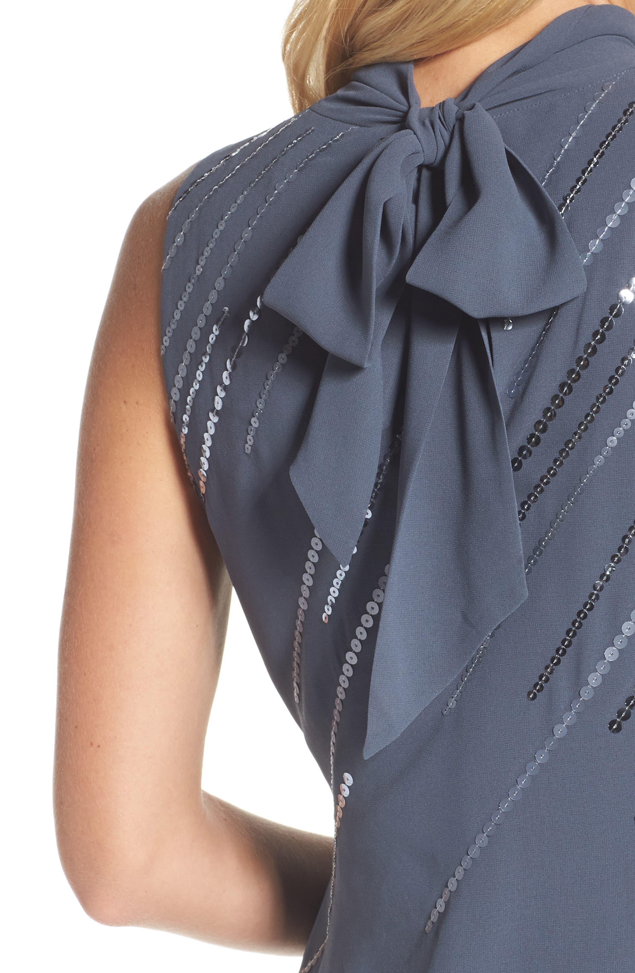 Sequin A-Line Dress,                             Alternate thumbnail 4, color,                             451