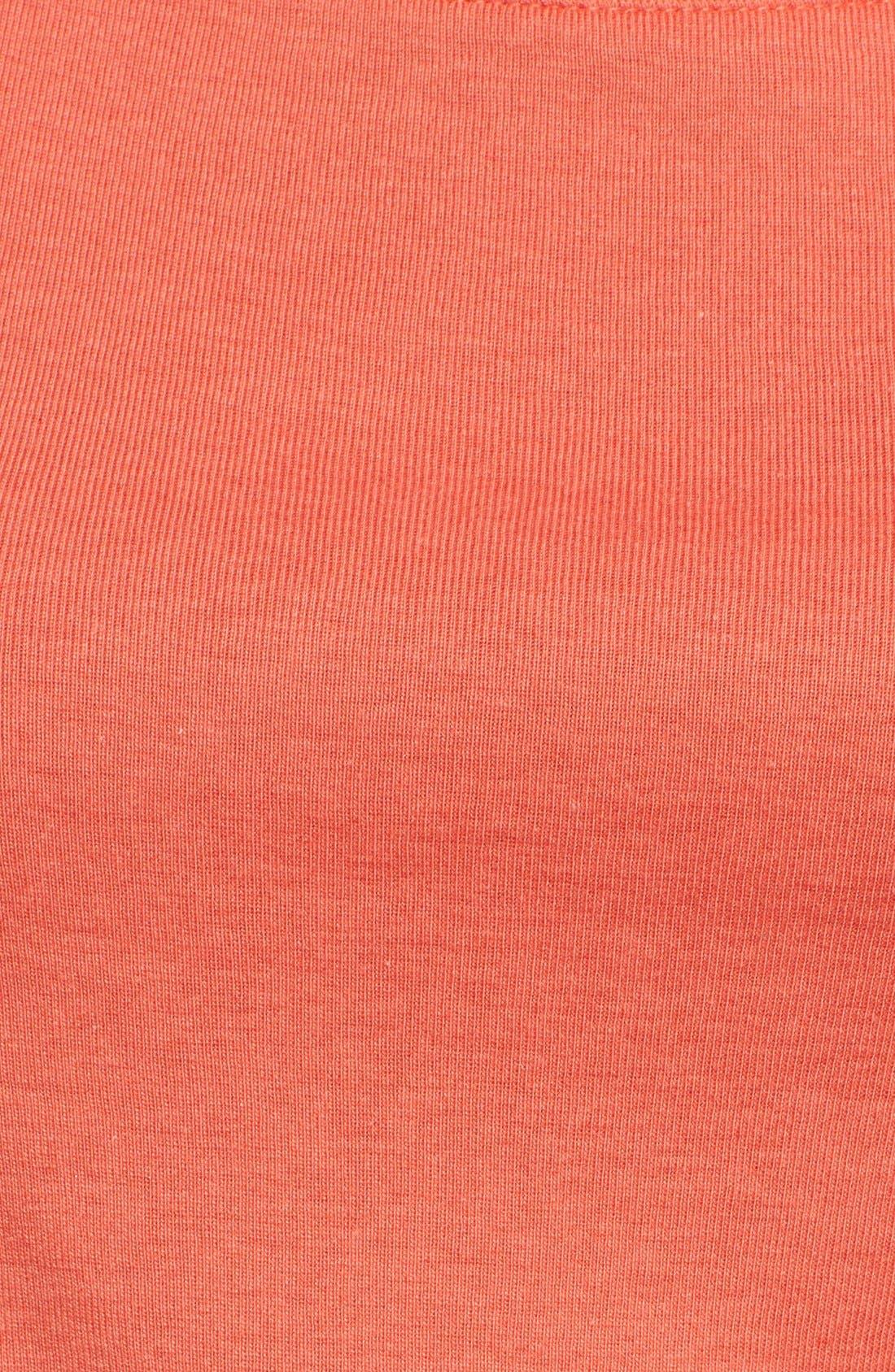 Ballet Neck Cotton & Modal Knit Elbow Sleeve Tee,                             Alternate thumbnail 164, color,