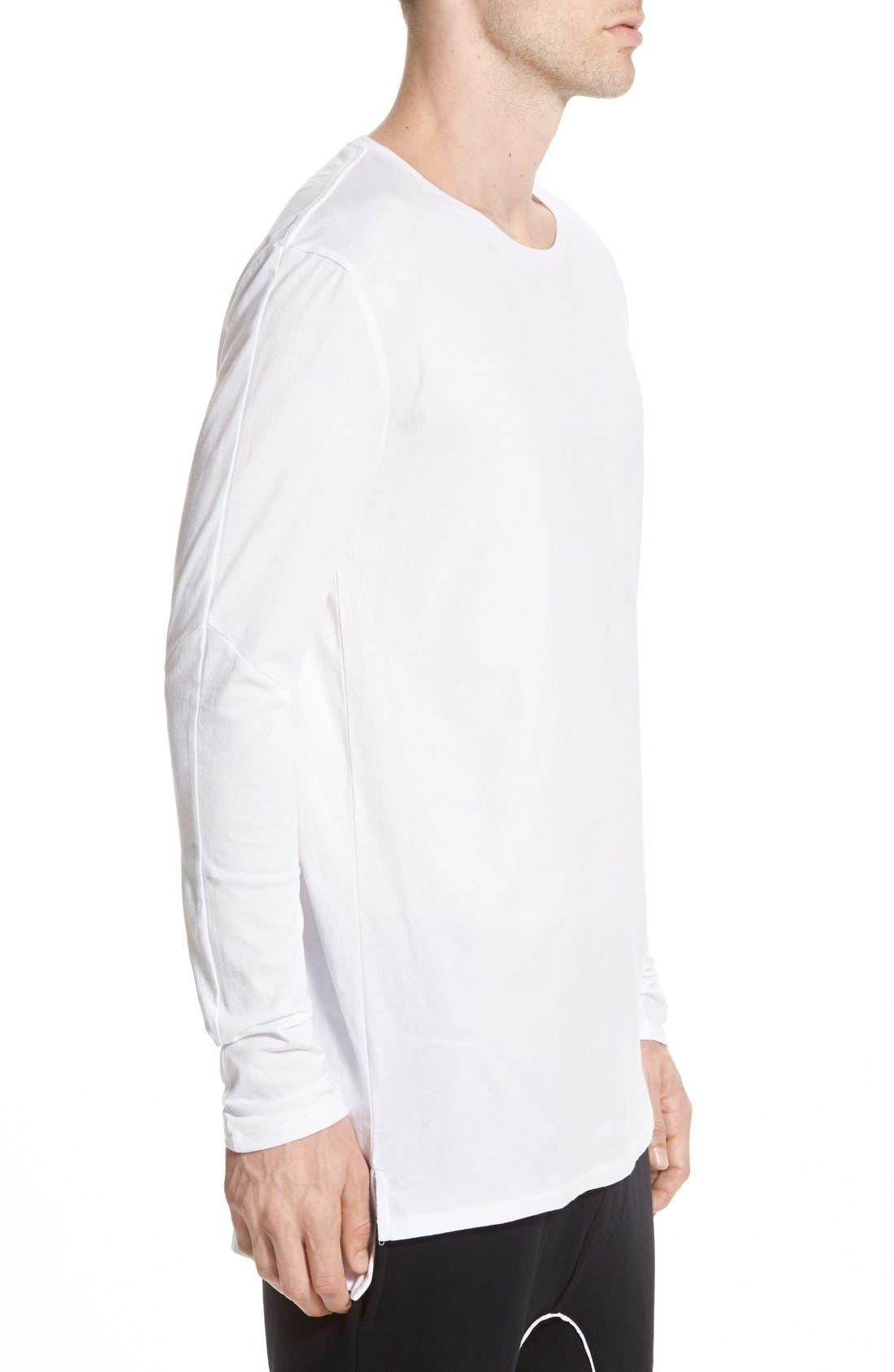 Flintlock Longline Long Sleeve T-Shirt,                             Alternate thumbnail 4, color,                             WHITE