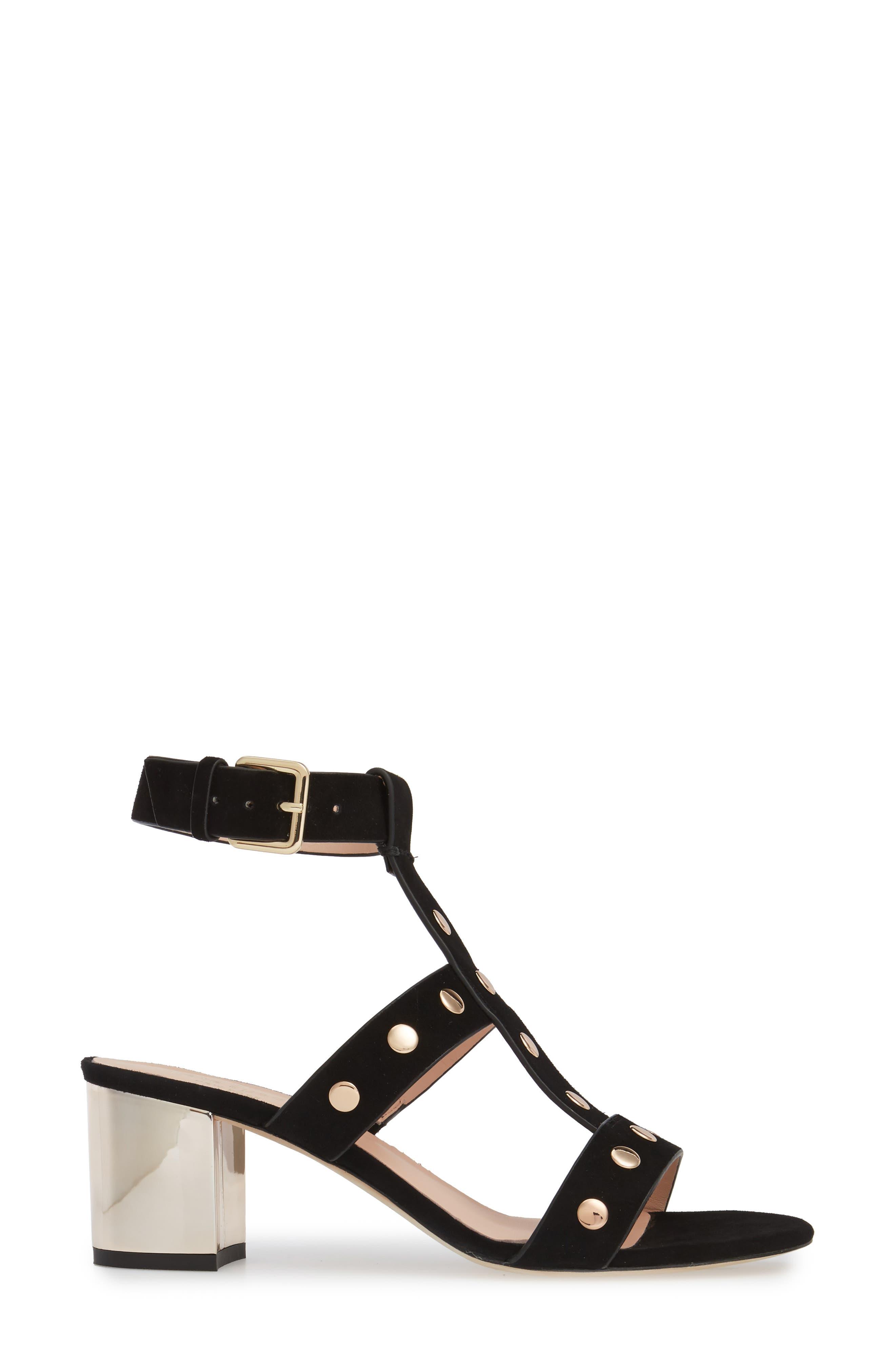 welby t-strap sandal,                             Alternate thumbnail 3, color,                             001