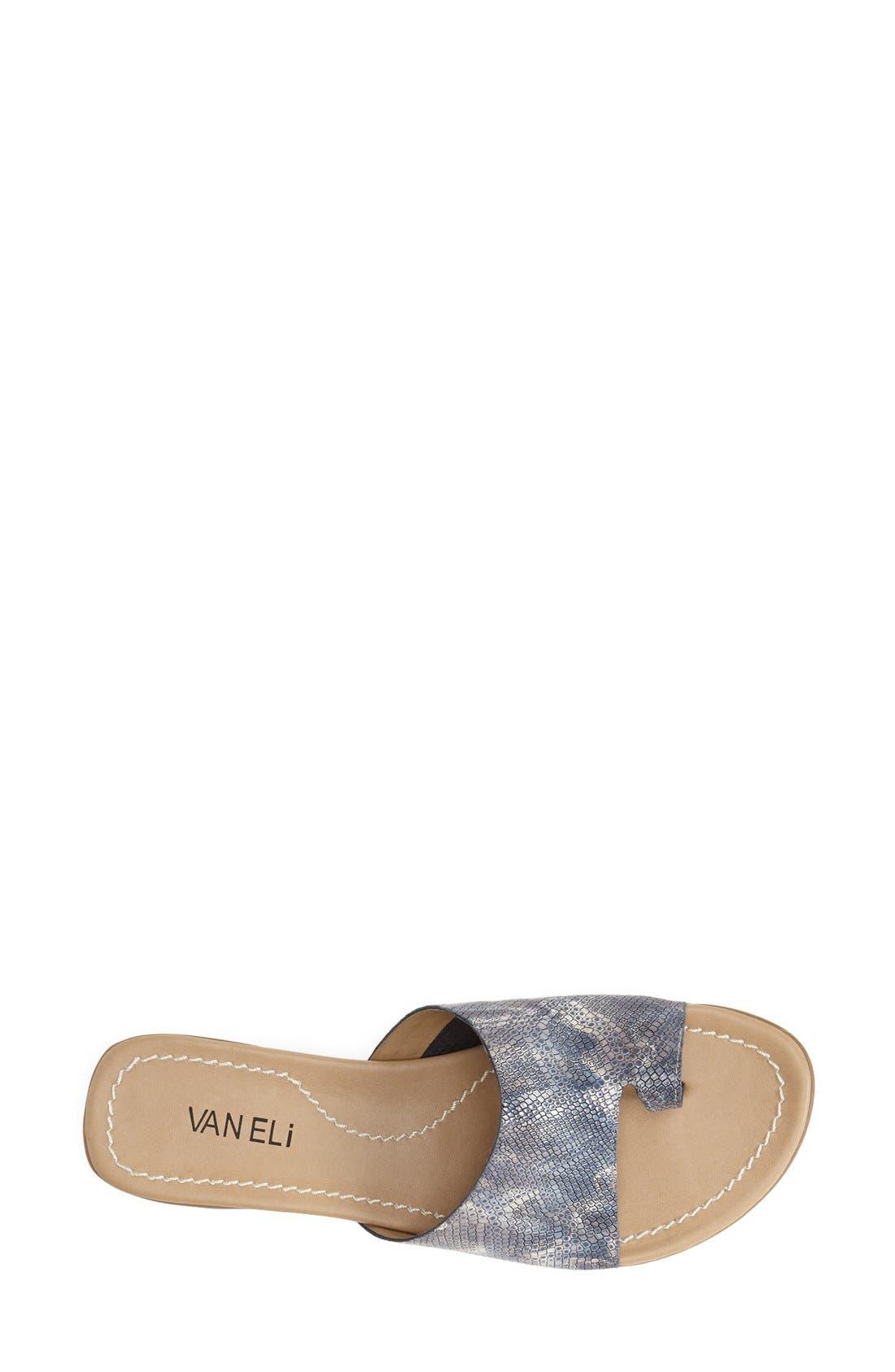 'Tallis' Snake Embossed Leather Slide Sandal,                             Alternate thumbnail 24, color,