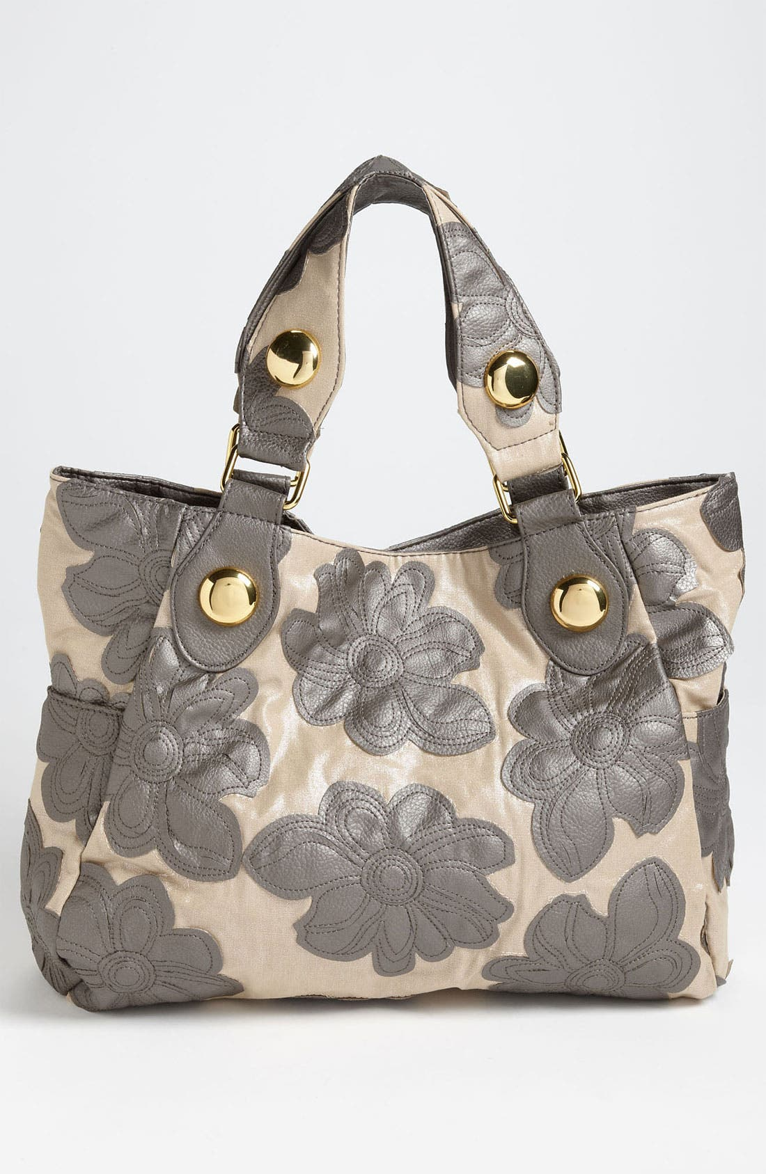 BIG BUDDHA,                             'Hibiscus' Floral Tote,                             Alternate thumbnail 3, color,                             020