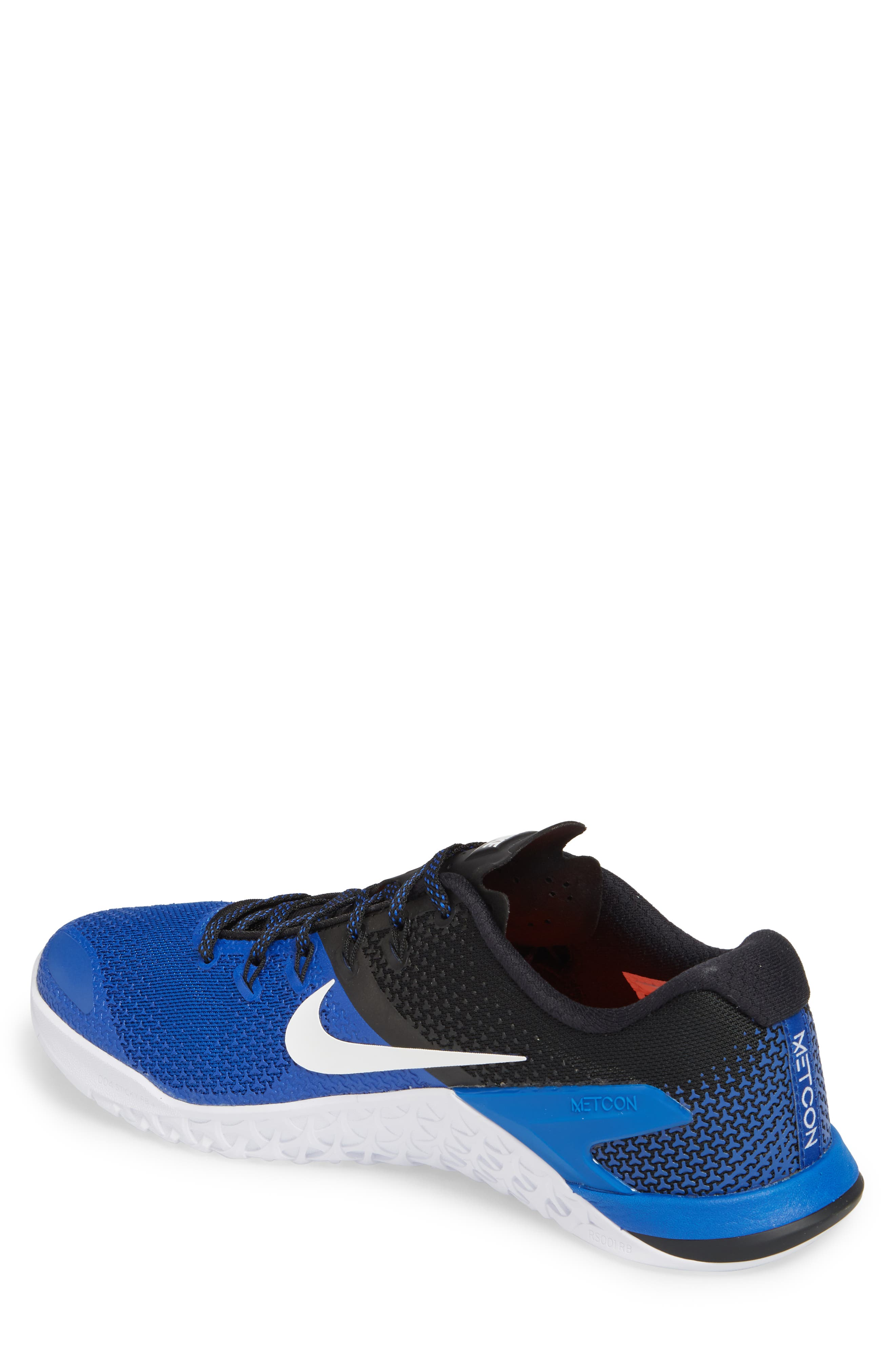 Metcon 4 Training Shoe,                             Alternate thumbnail 2, color,                             GAME ROYAL/ WHITE/ BLACK