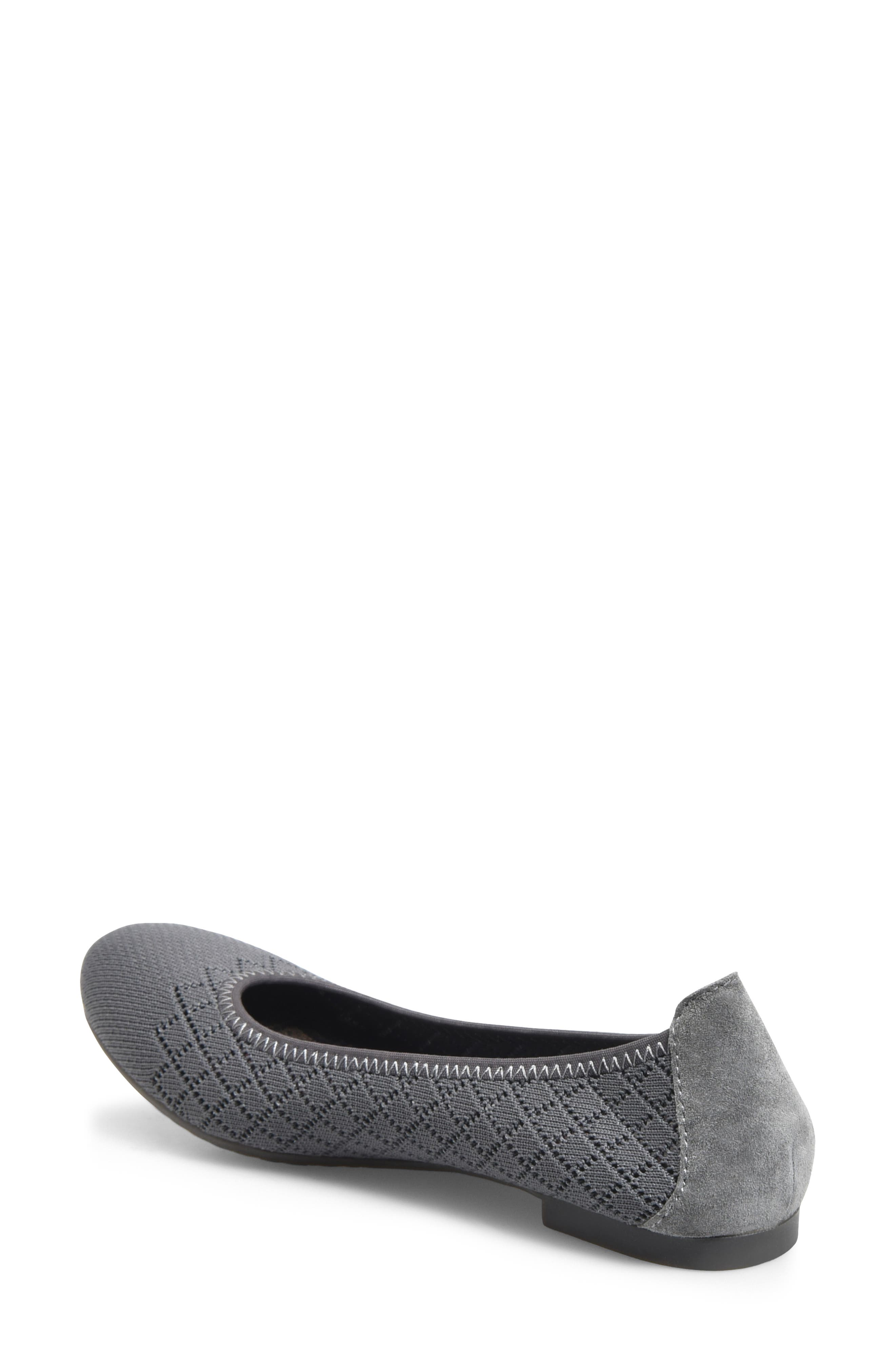 Julianne Knit Flat,                             Alternate thumbnail 2, color,                             GREY KNIT FABRIC