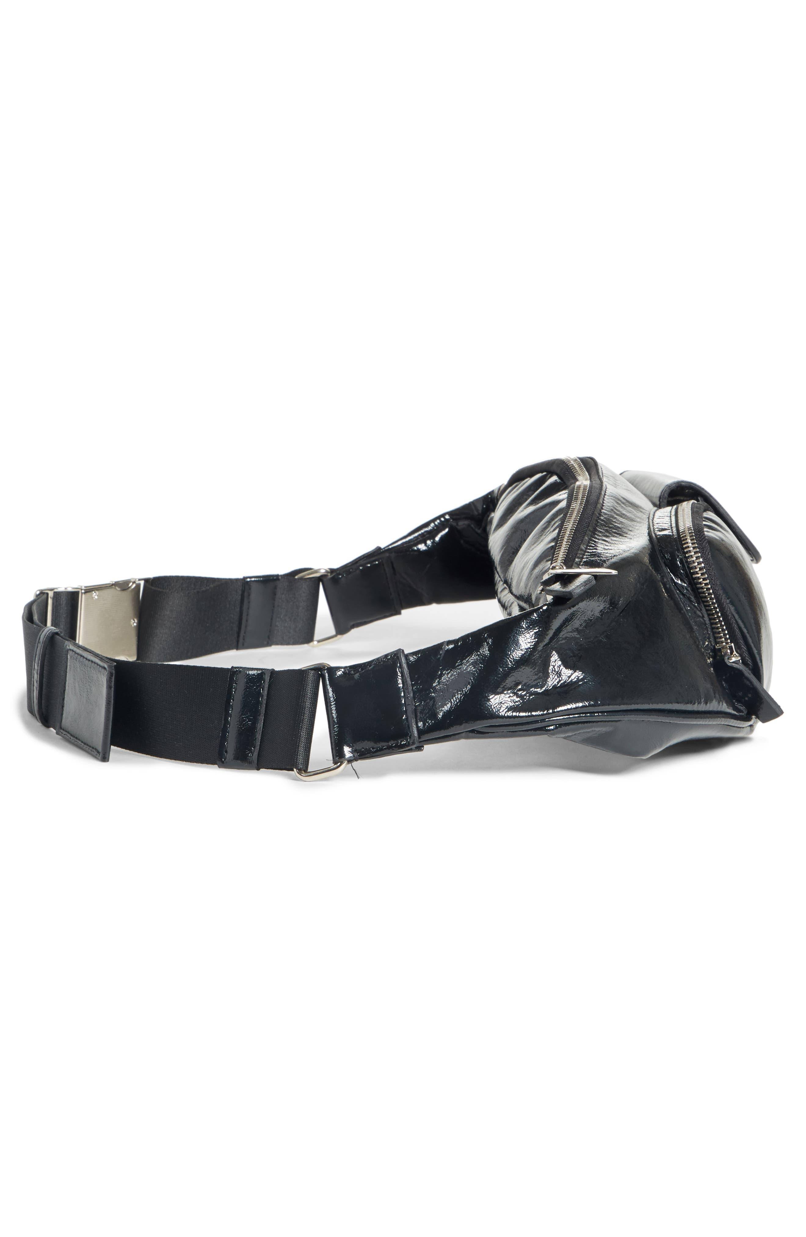 Major Convertible Belt Bag,                             Alternate thumbnail 5, color,                             BLACK PATENT