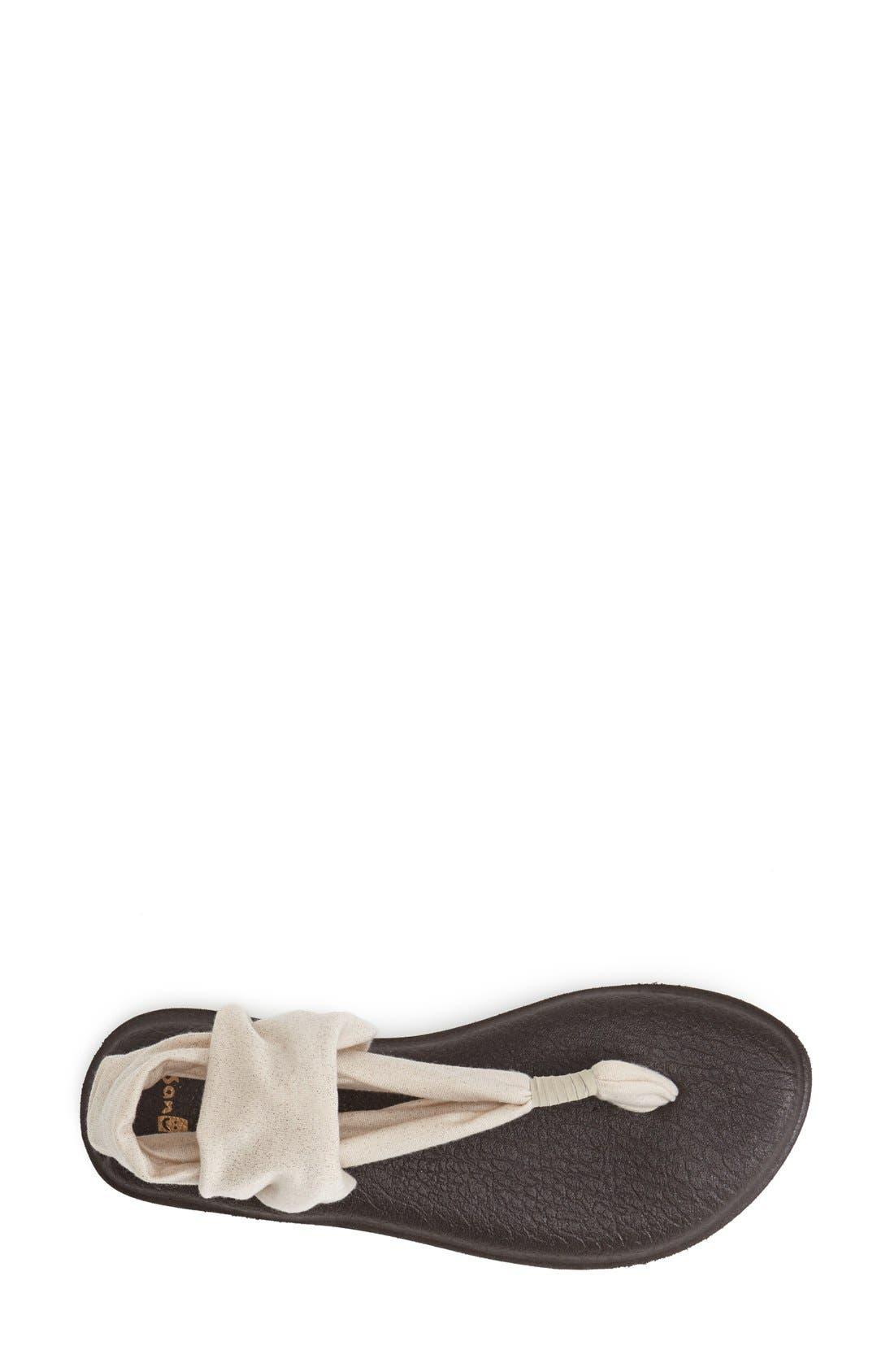 'Yoga Metallic Sling' Sandal,                             Alternate thumbnail 3, color,                             650