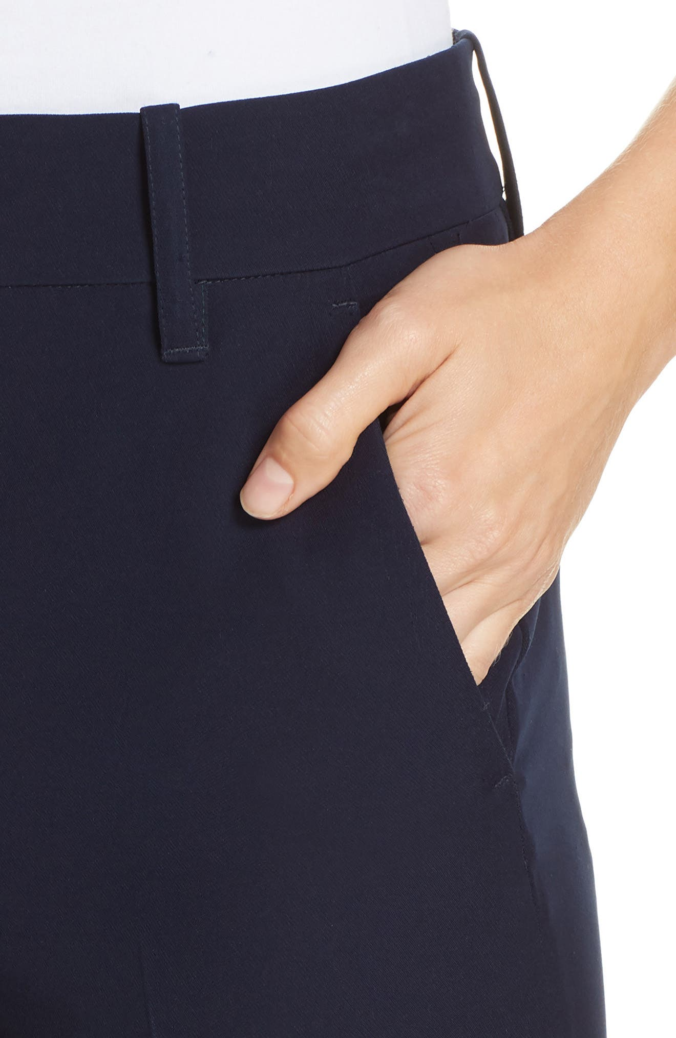 Cuffed Ankle Trousers,                             Alternate thumbnail 4, color,                             NAVY