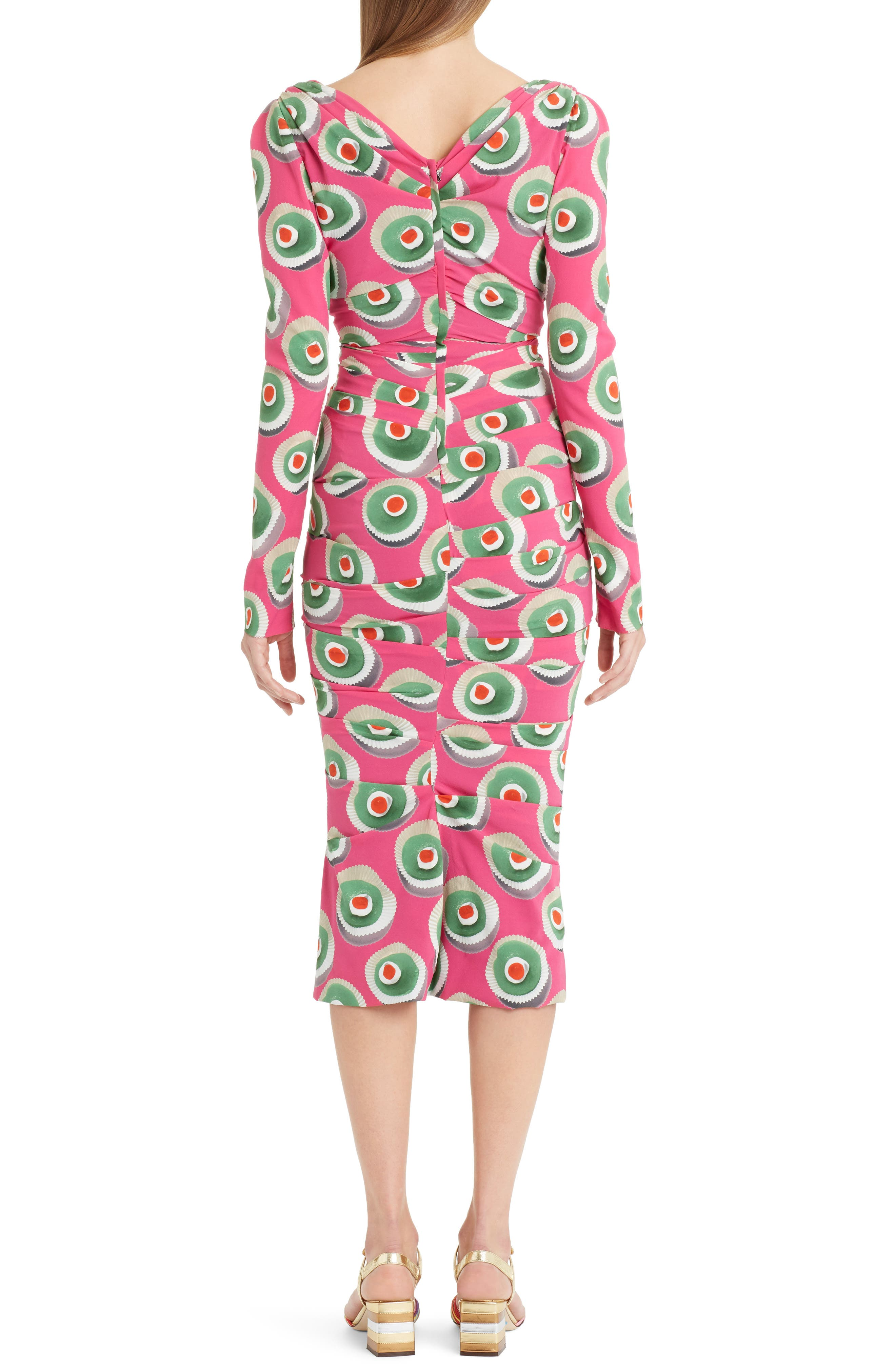 Cassate Print Silk Blend Dress,                             Alternate thumbnail 2, color,                             651