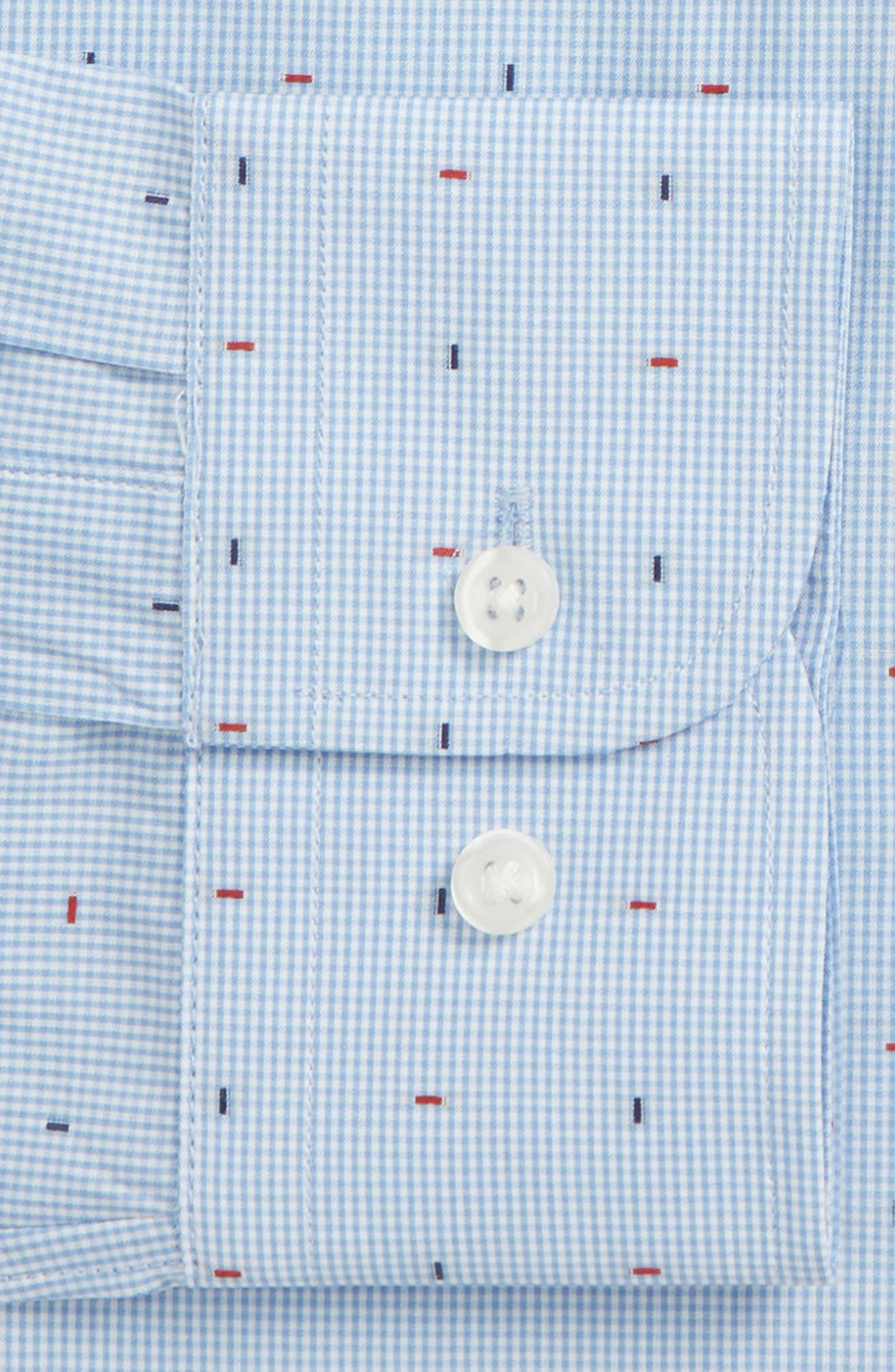 JOHN W. NORDSTROM<SUP>®</SUP>,                             Traditional Fit Check Dress Shirt,                             Alternate thumbnail 6, color,                             420