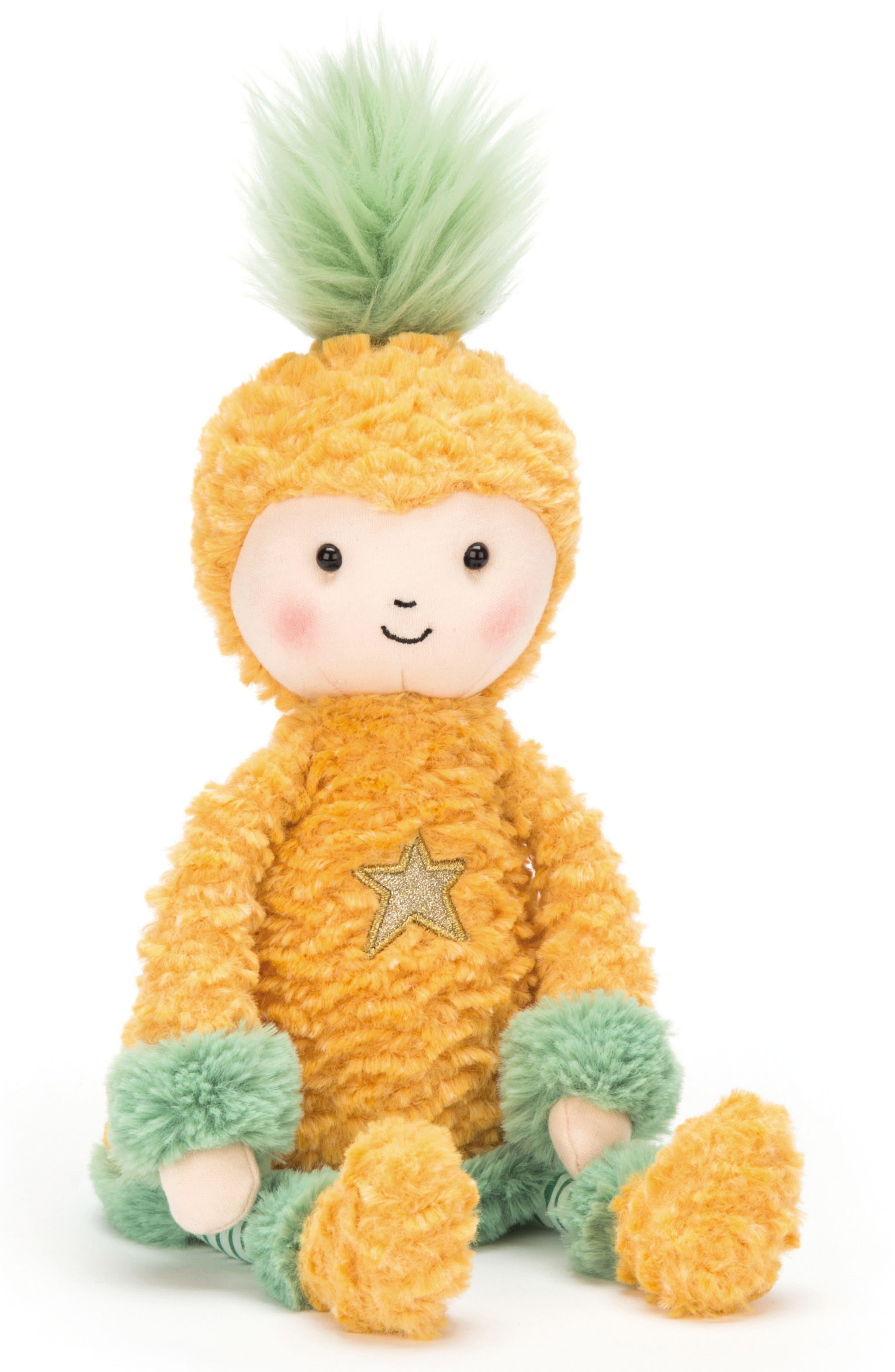 JELLYCAT Perkies Pineapple Princess Stuffed Doll, Main, color, 720