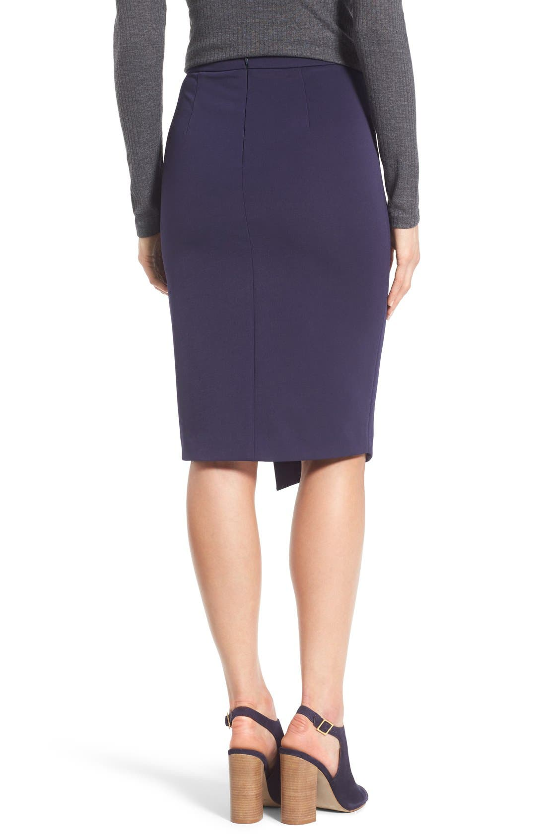 Asymmetrical Zip Pencil Skirt,                             Alternate thumbnail 7, color,