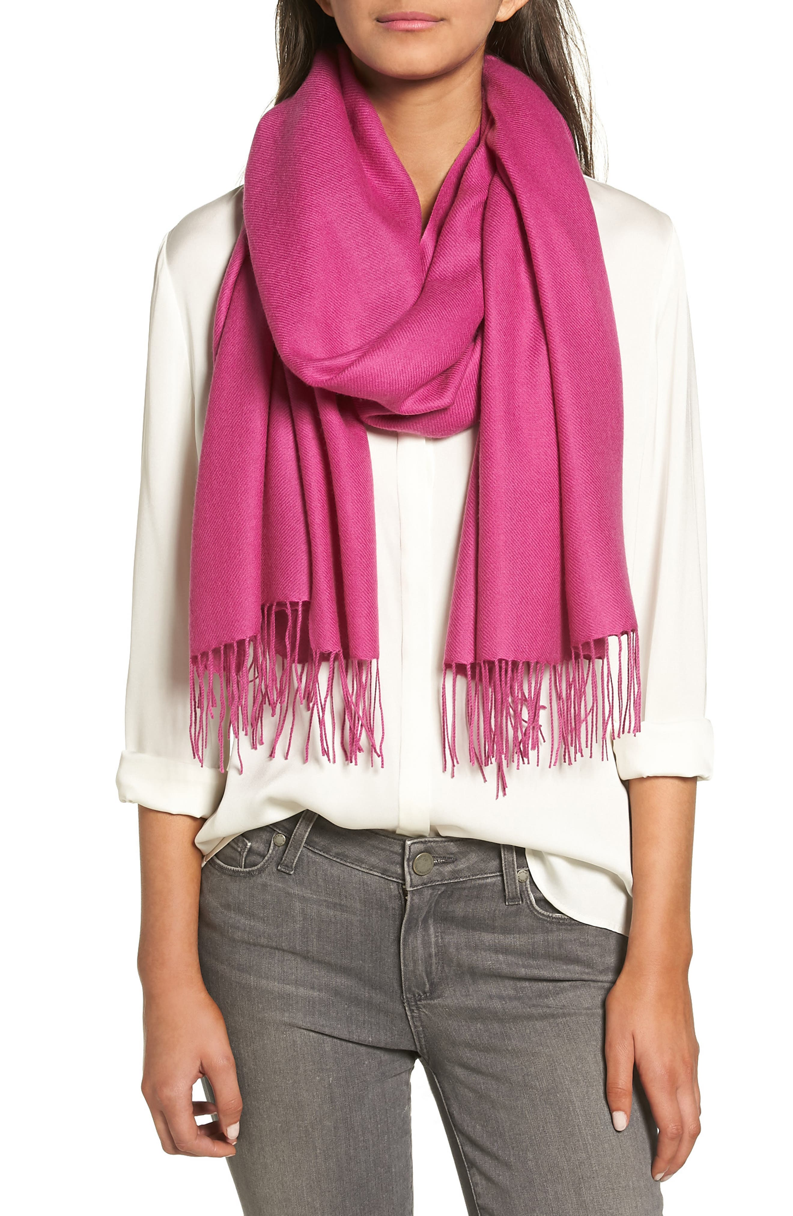Tissue Weight Wool & Cashmere Scarf,                             Alternate thumbnail 247, color,