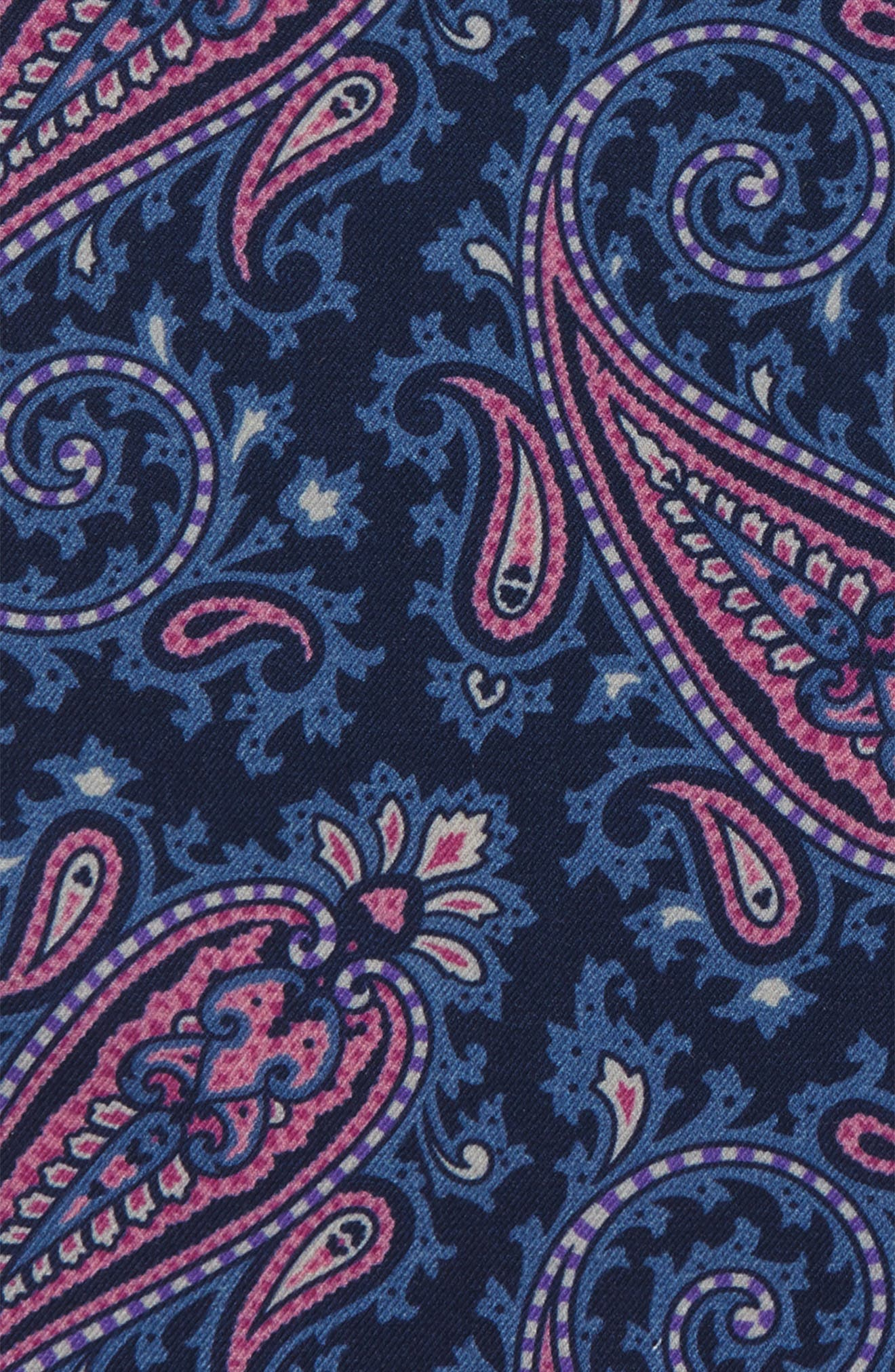 Paisley Wool Pocket Square,                             Alternate thumbnail 8, color,