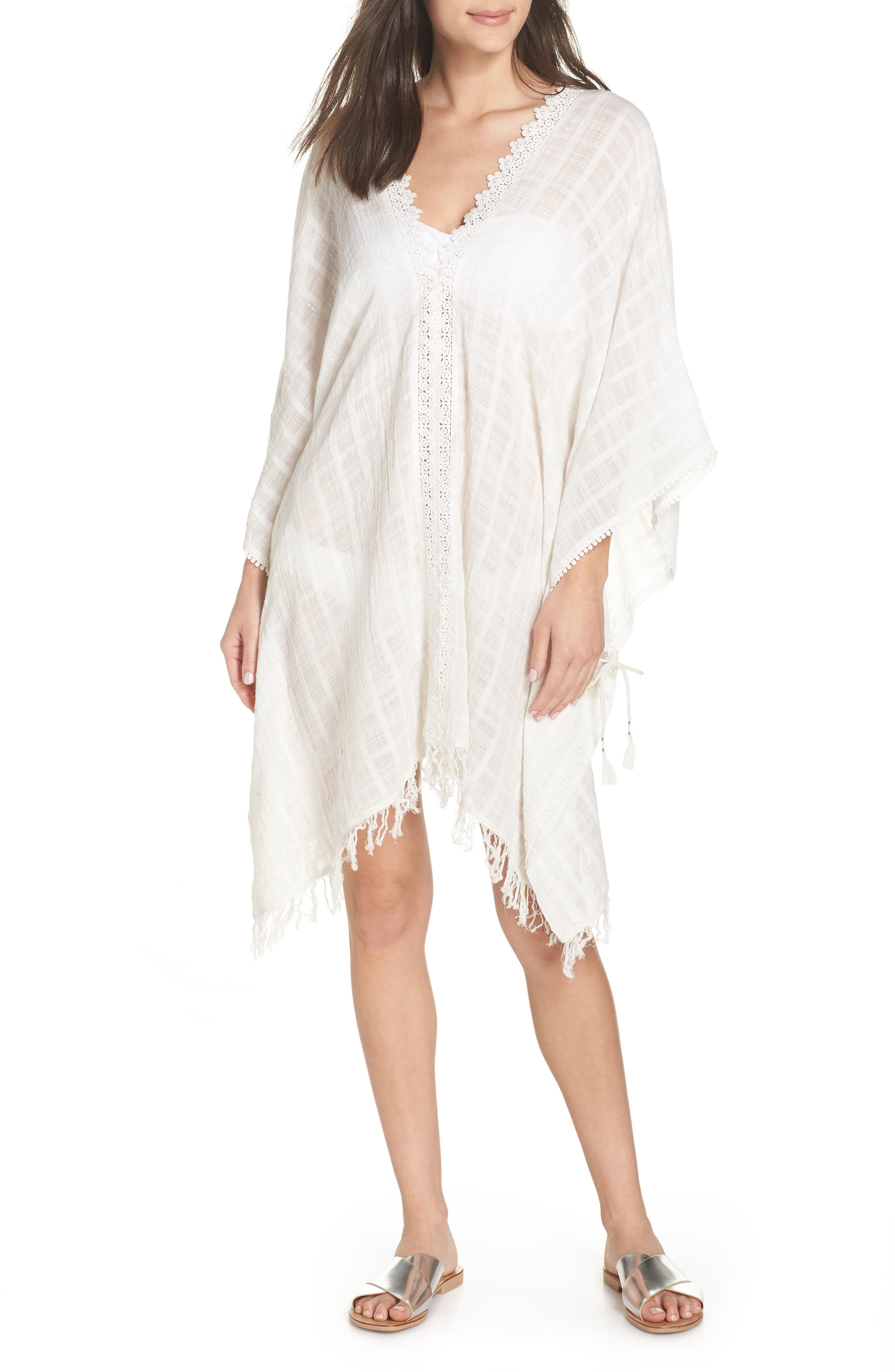 Serendipity Cover-Up Tunic,                             Main thumbnail 1, color,                             WHITE-SILVER