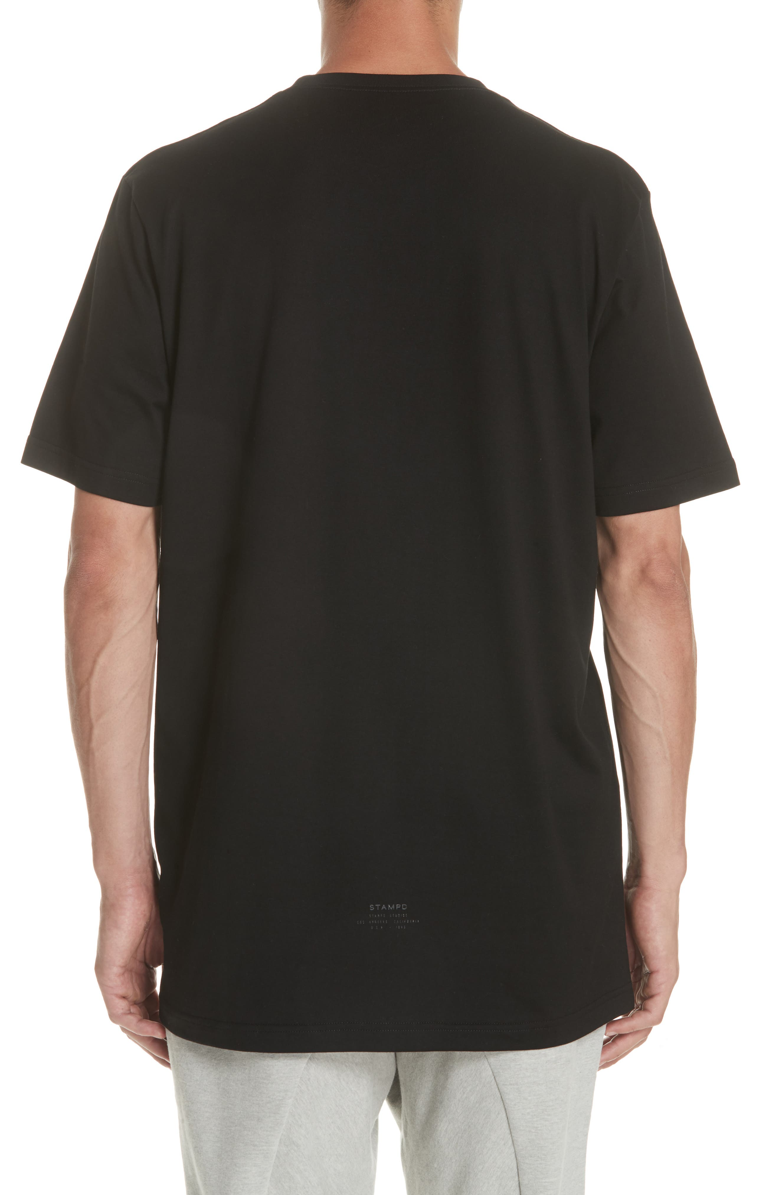 Core Scallop T-Shirt,                             Alternate thumbnail 2, color,                             BLACK