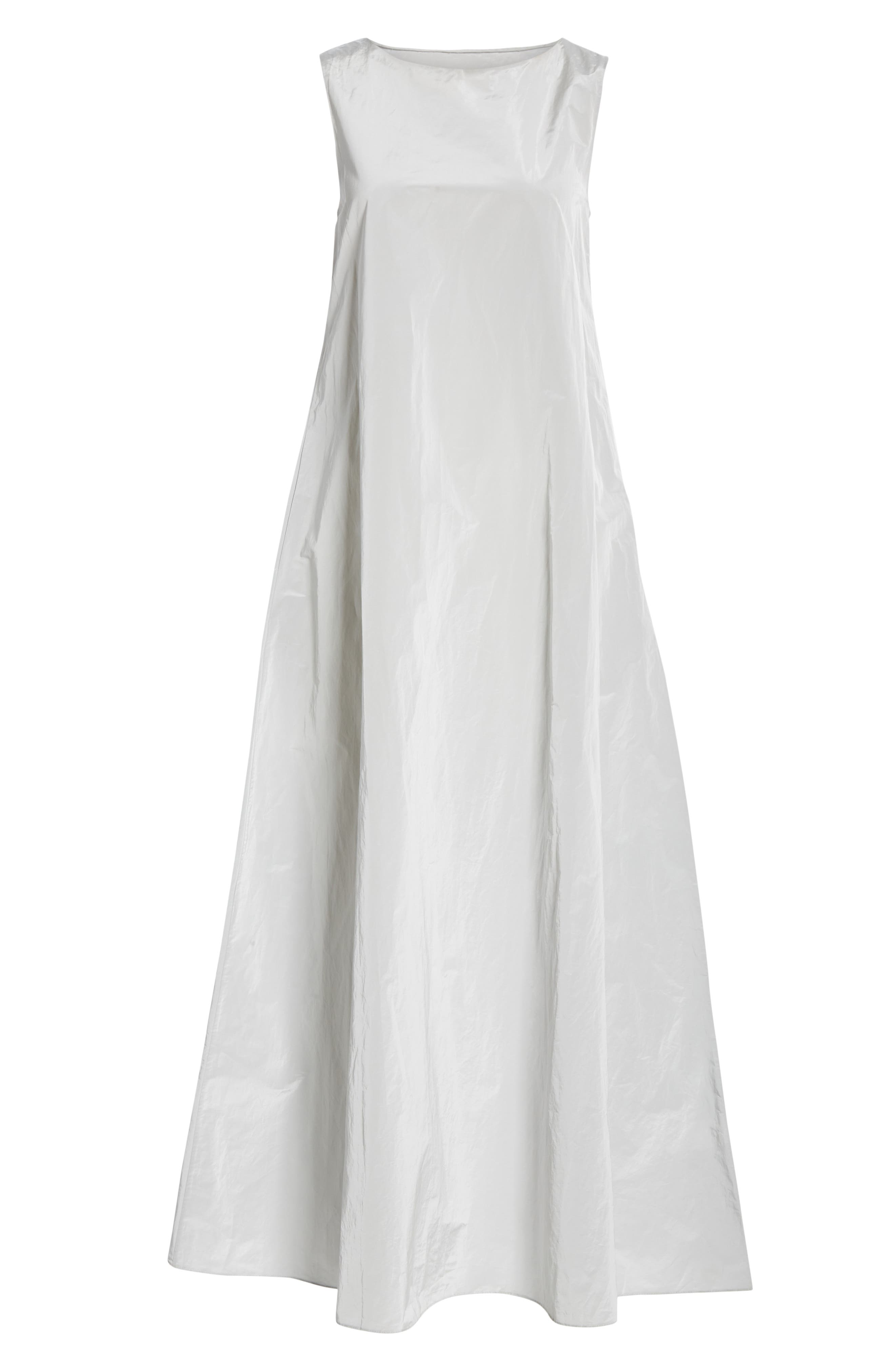 Sleeveless A-Line Maxi Dress,                             Alternate thumbnail 6, color,                             SILVER ICE
