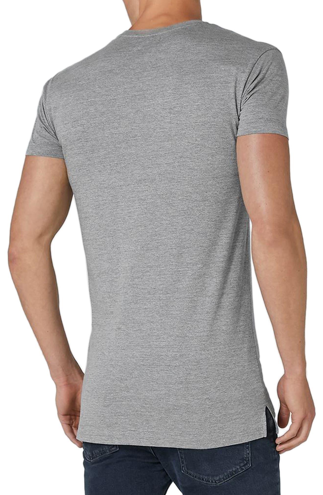 Longline T-Shirt,                             Alternate thumbnail 3, color,