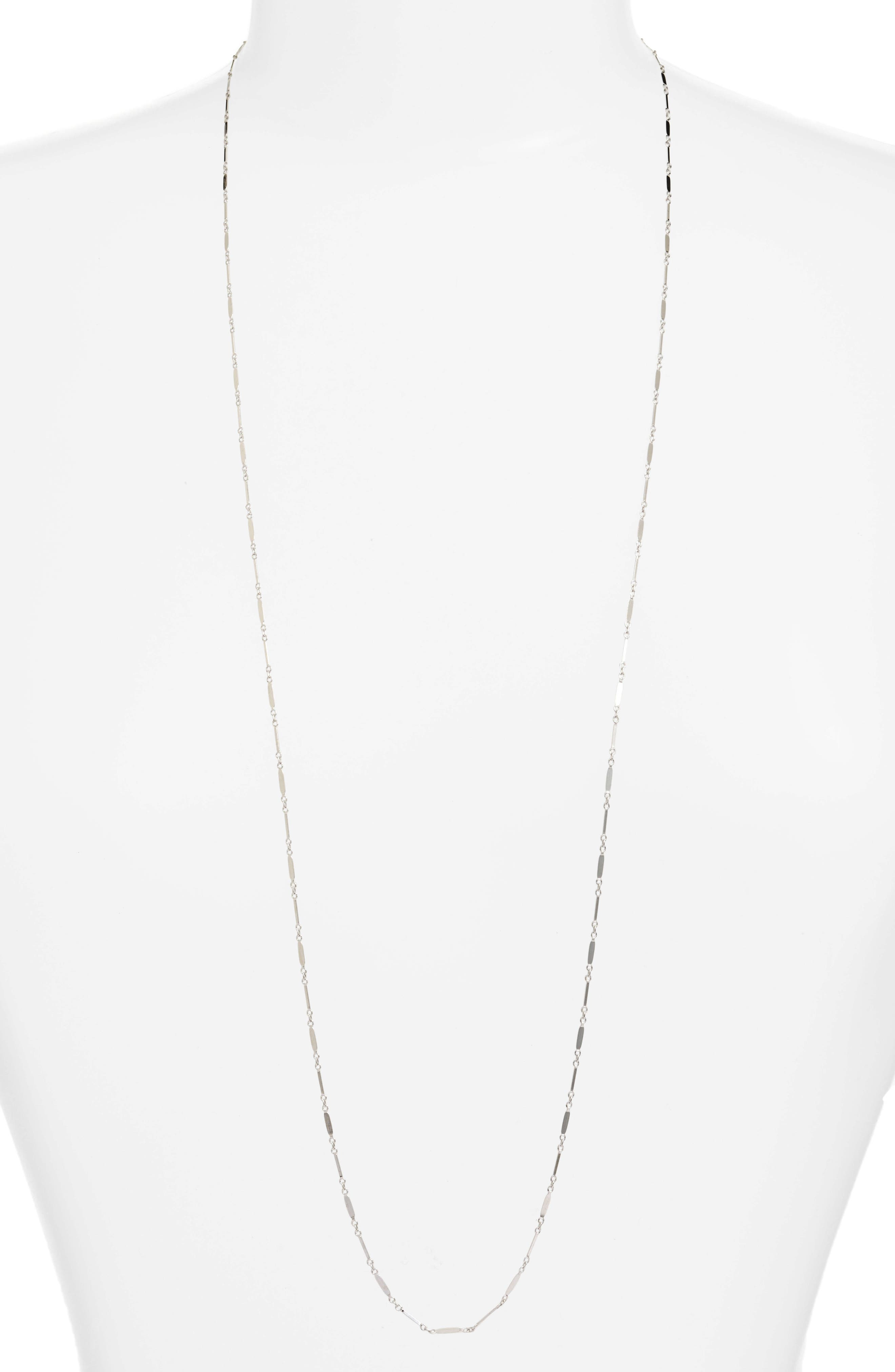 Mirror Bar Station Necklace,                         Main,                         color, SILVER
