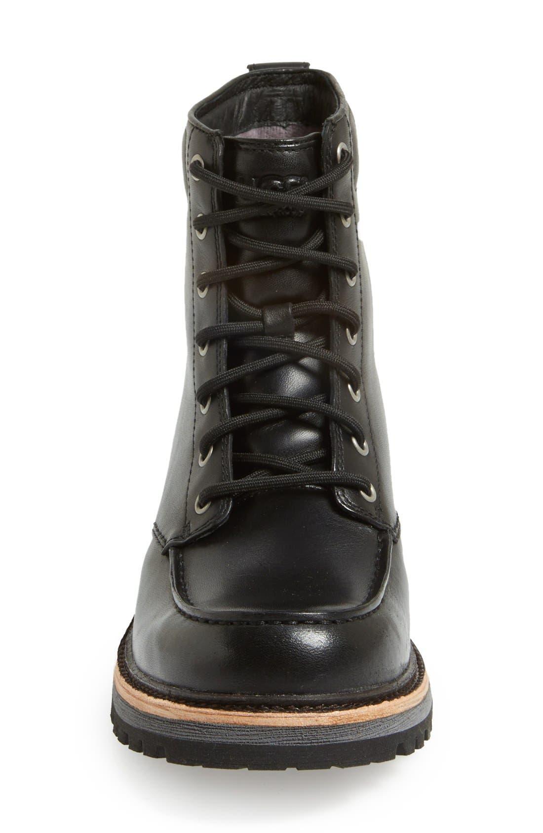 Australia 'Noxon' Waterproof Moc Toe Boot,                             Alternate thumbnail 3, color,                             001