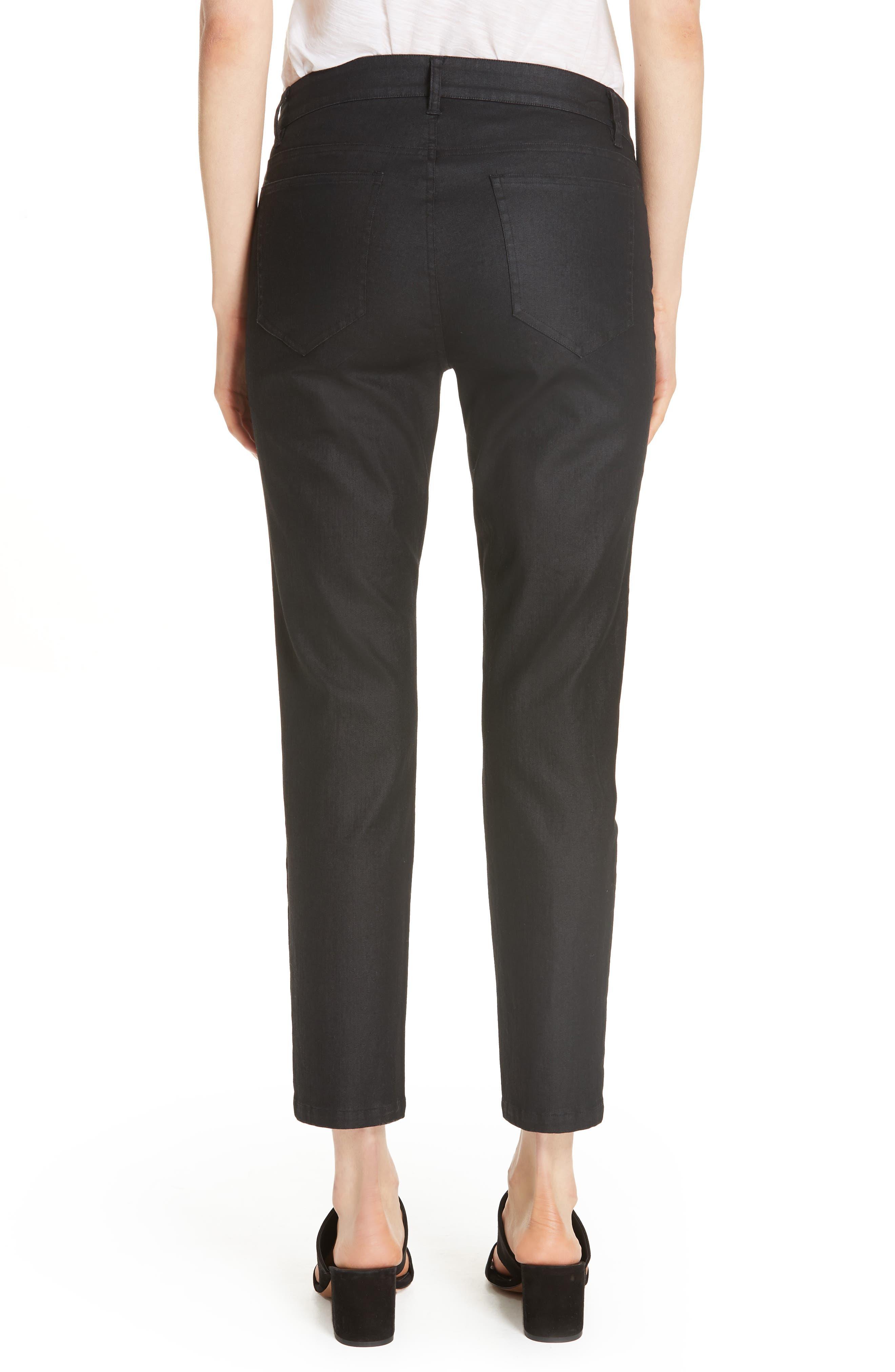 Slim Ankle Jeans,                             Alternate thumbnail 2, color,                             BLACK