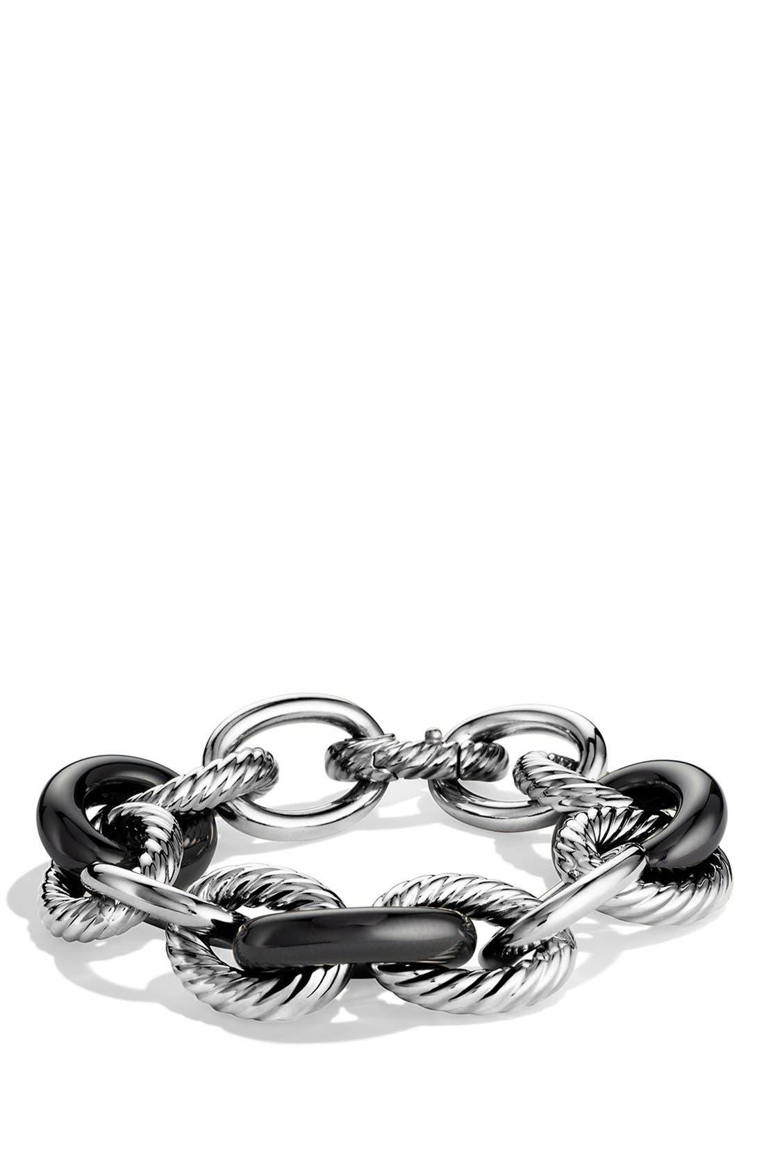 'Oval' Extra-Large Ceramic Link Bracelet,                             Main thumbnail 1, color,                             010