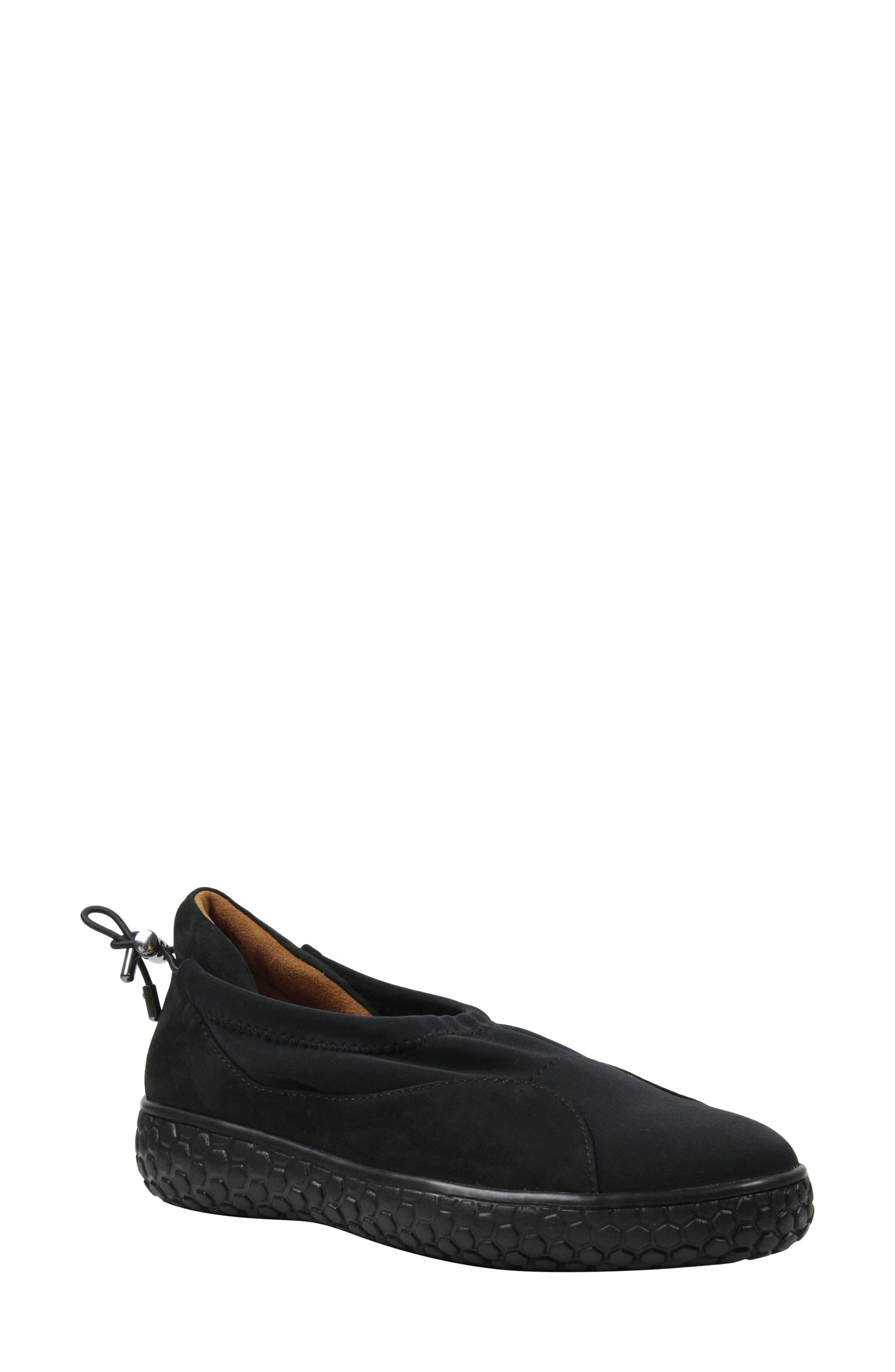 Zaidee Flat,                             Main thumbnail 1, color,                             BLACK NUBUCK LEATHER