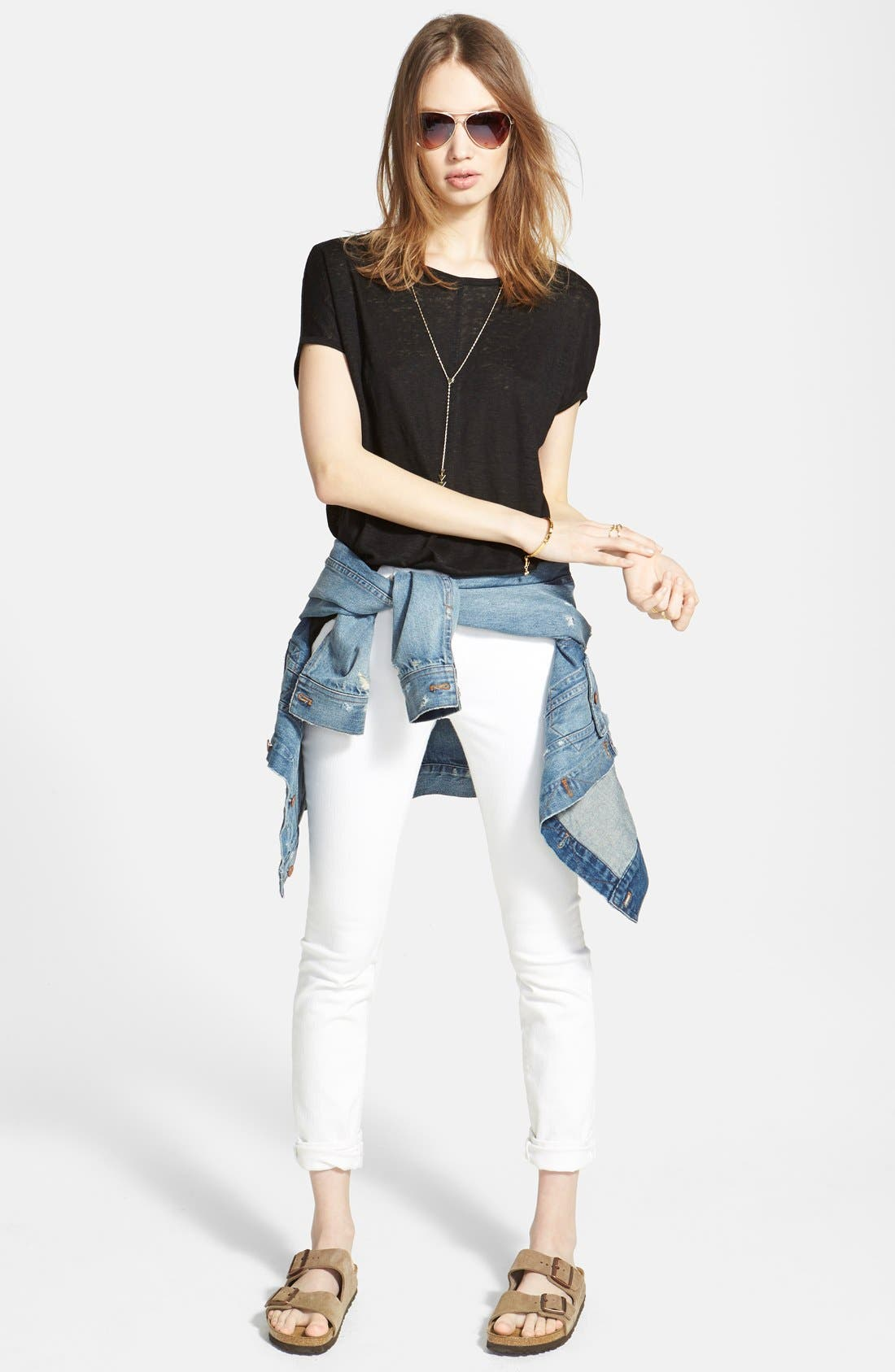 MADEWELL,                             9-Inch High-Rise Skinny Jeans,                             Alternate thumbnail 7, color,                             100