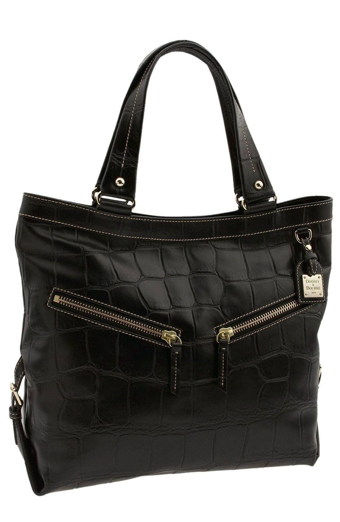 DOONEY & BOURKE 'Croco - Sara' Bucket Bag, Main, color, 001