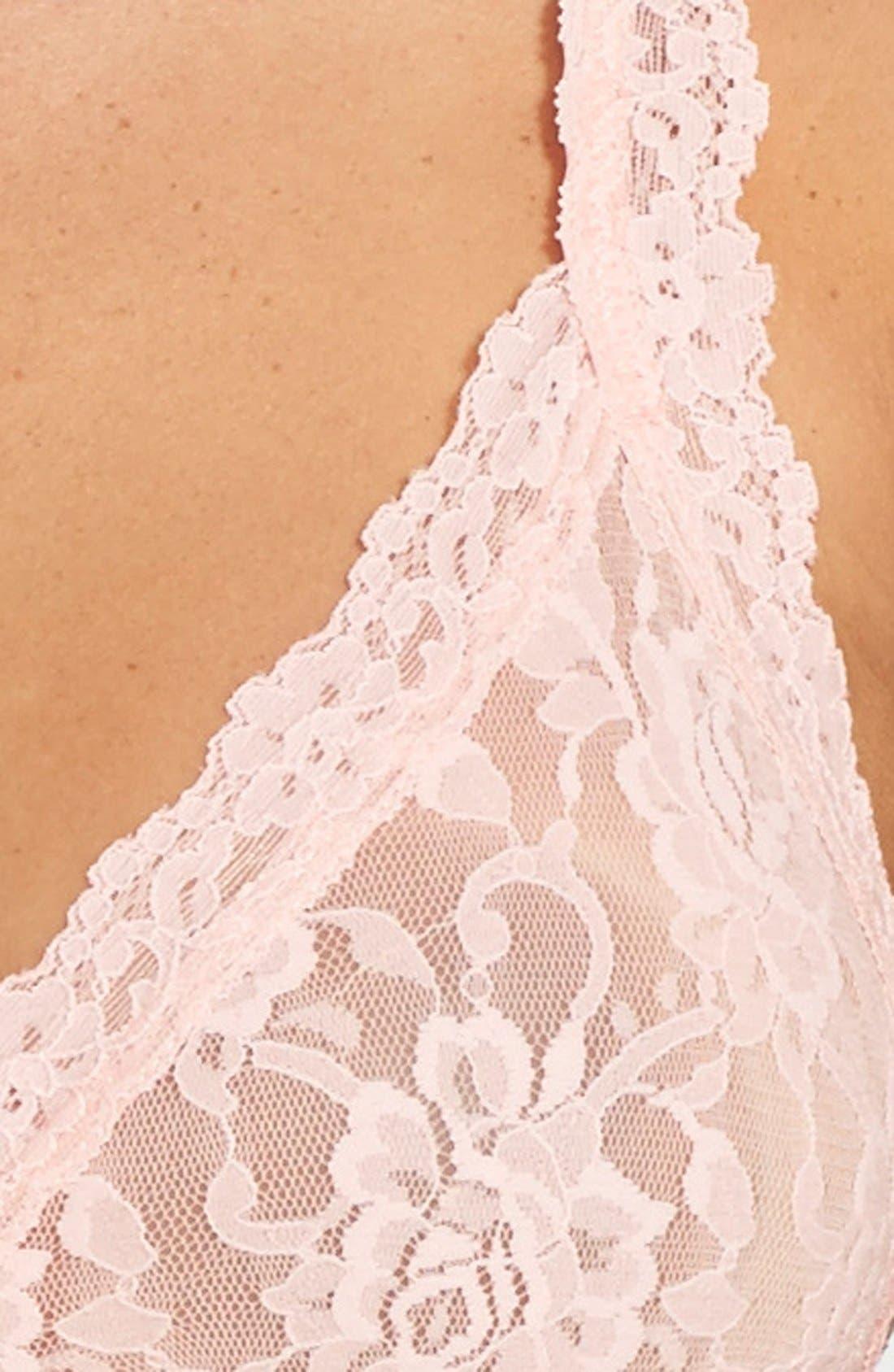 'Signature Lace' Bralette,                             Alternate thumbnail 110, color,
