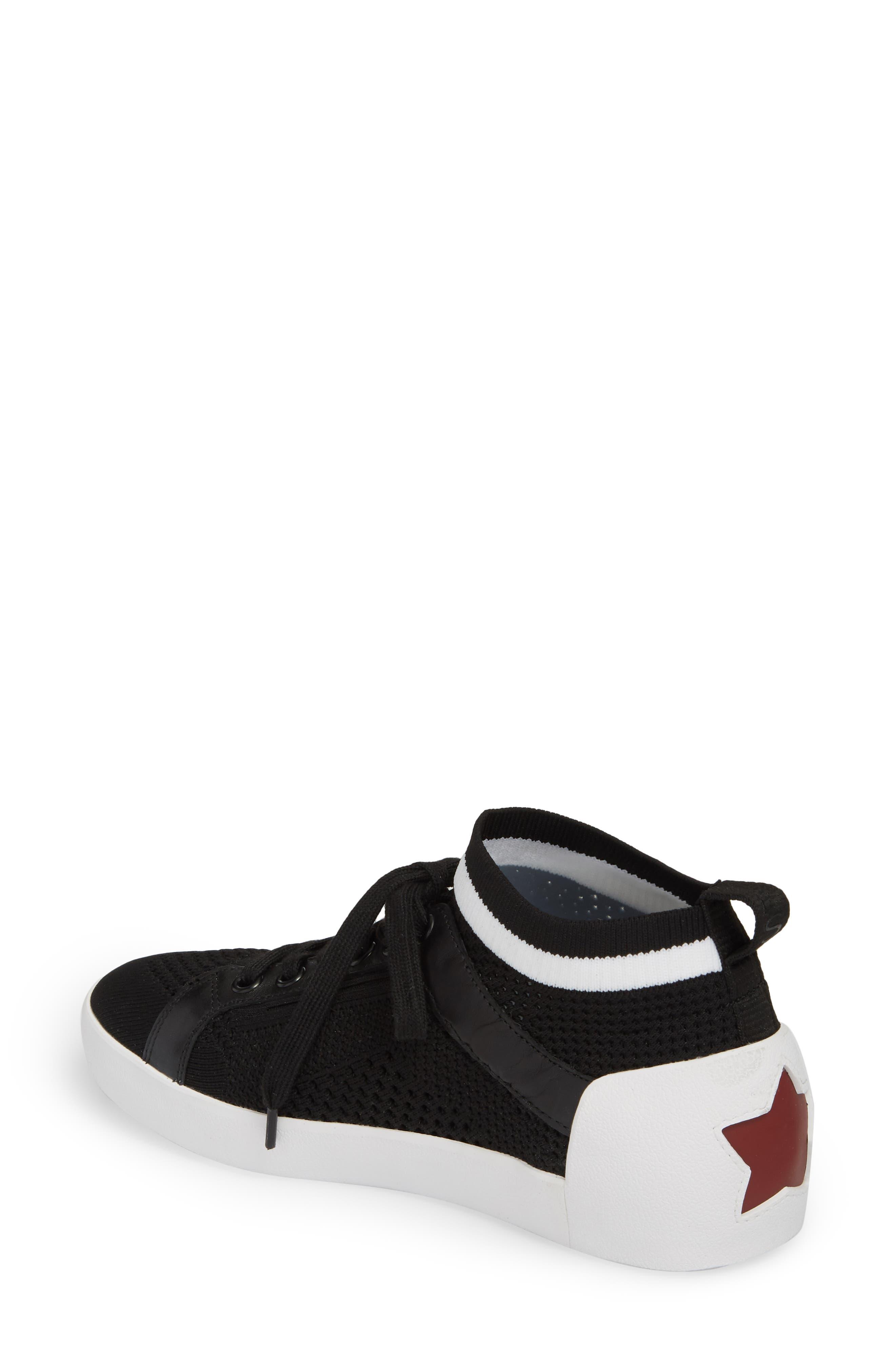 Nolita Mid Top Sock Sneaker,                             Alternate thumbnail 2, color,                             001